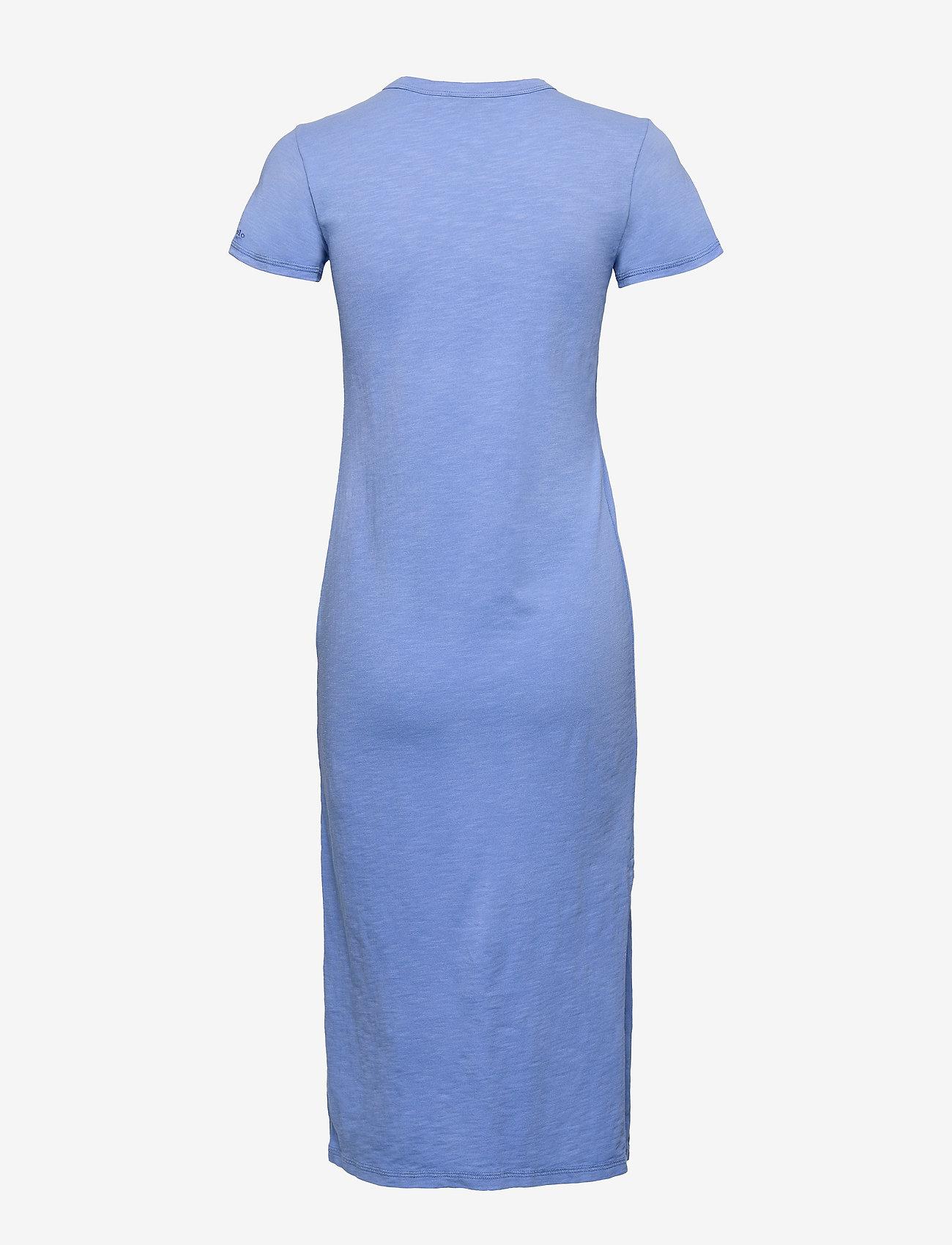 Polo Ralph Lauren - 20/1 UNEVEN CTN JRS-SSL-CSD - midi dresses - harbor island blu - 1