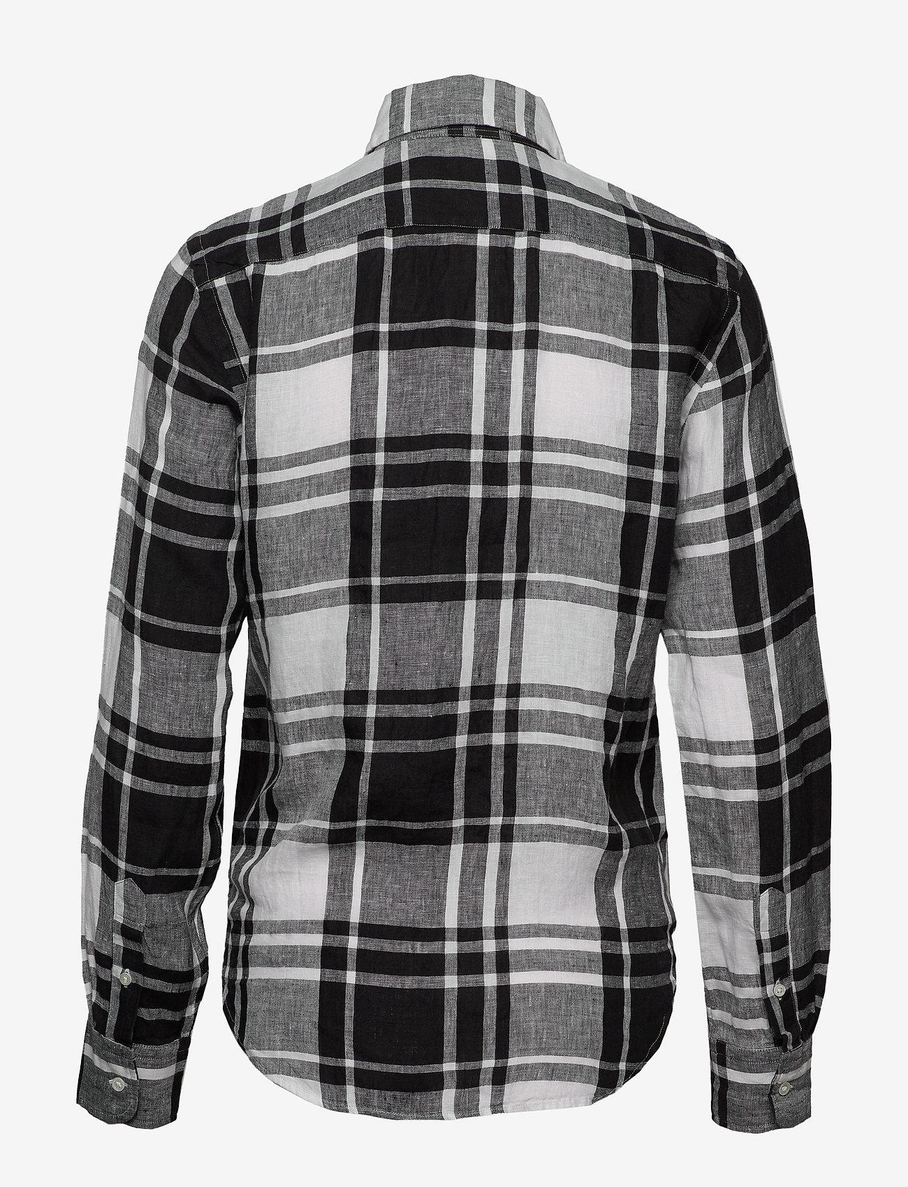 Polo Ralph Lauren - Plaid Linen Button-Down Shirt - long-sleeved shirts - 713 white/black - 1