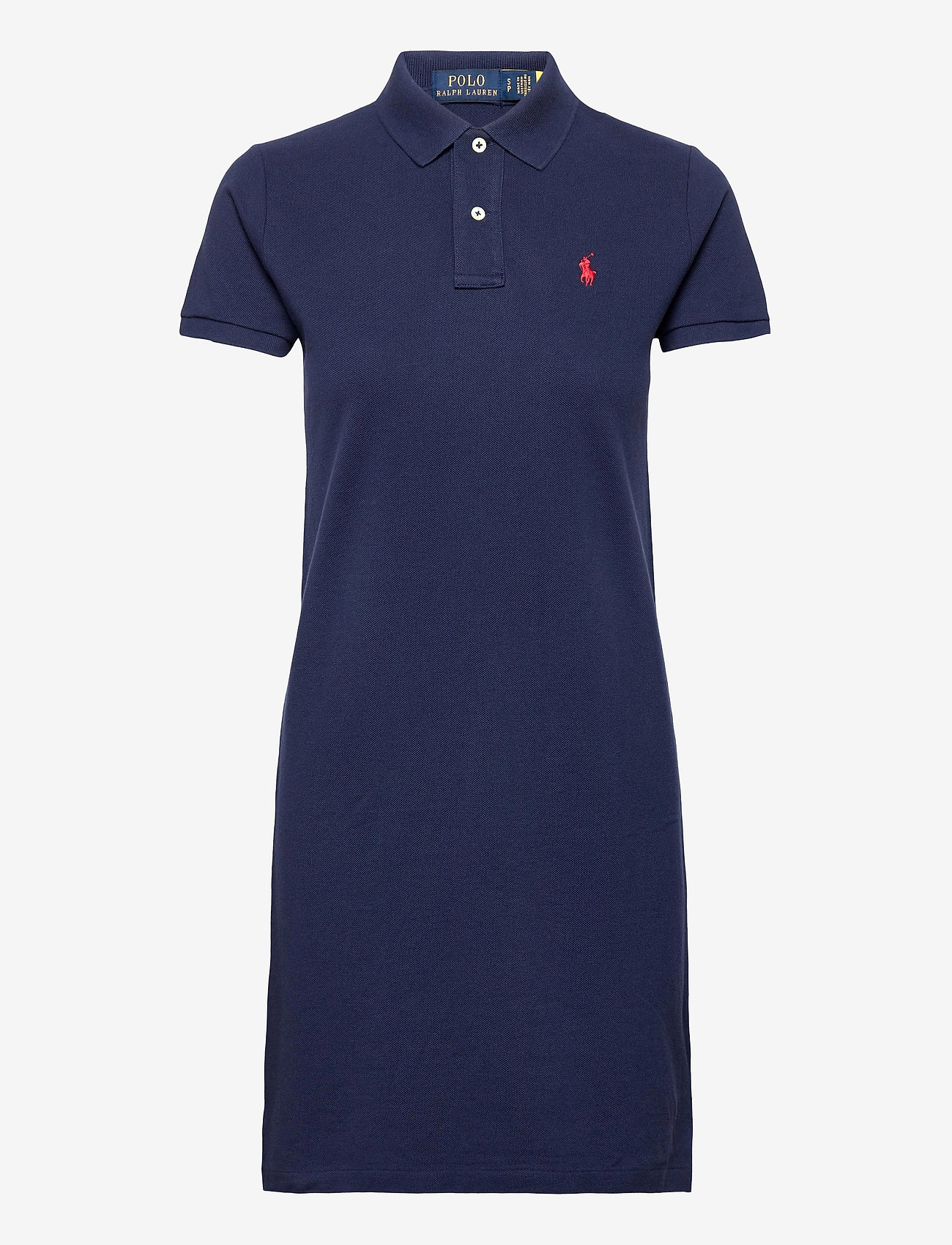Polo Ralph Lauren - Cotton Polo Dress - hverdagskjoler - newport navy/c387 - 1