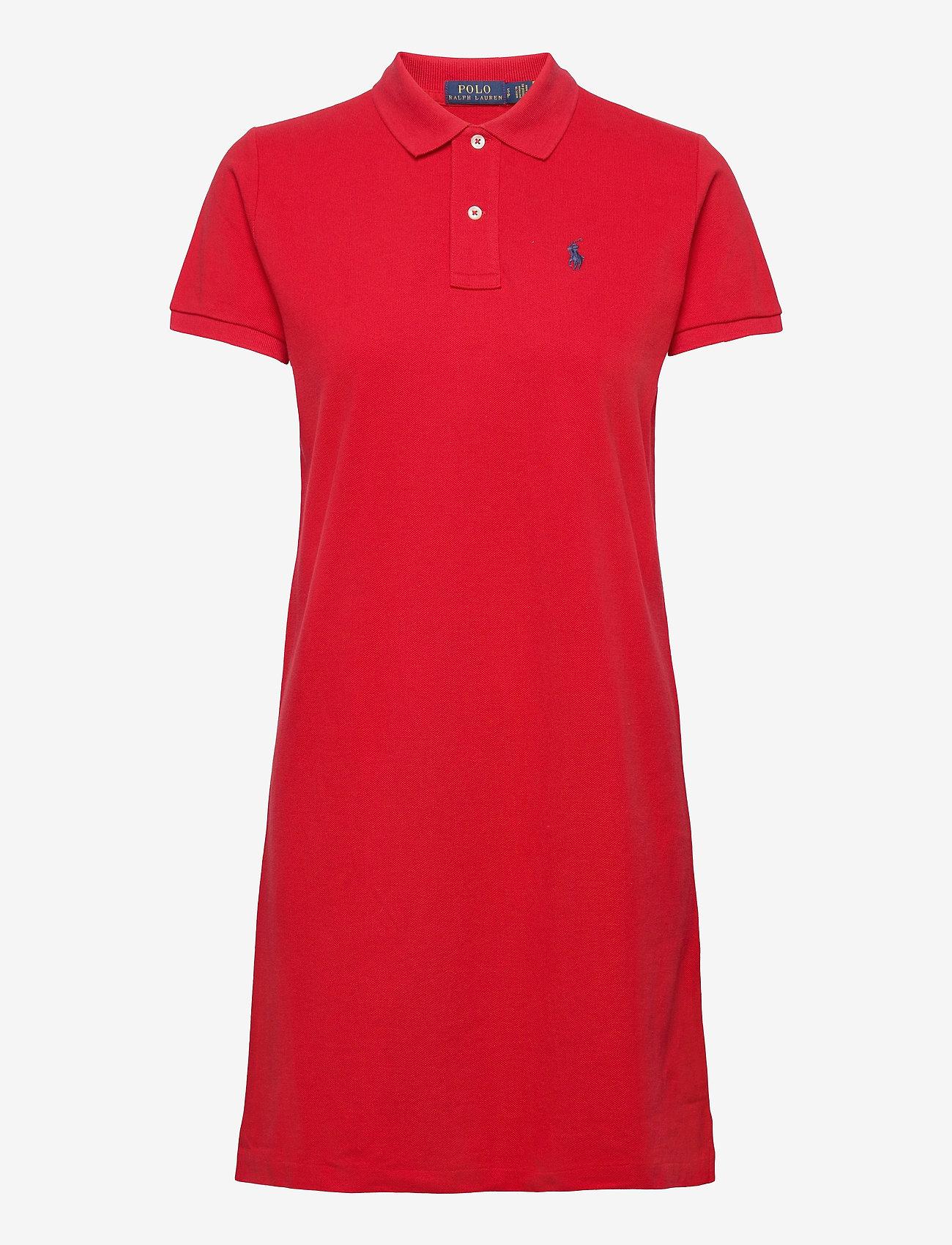 Polo Ralph Lauren - Cotton Polo Dress - hverdagskjoler - rl 2000 red/c7998 - 1