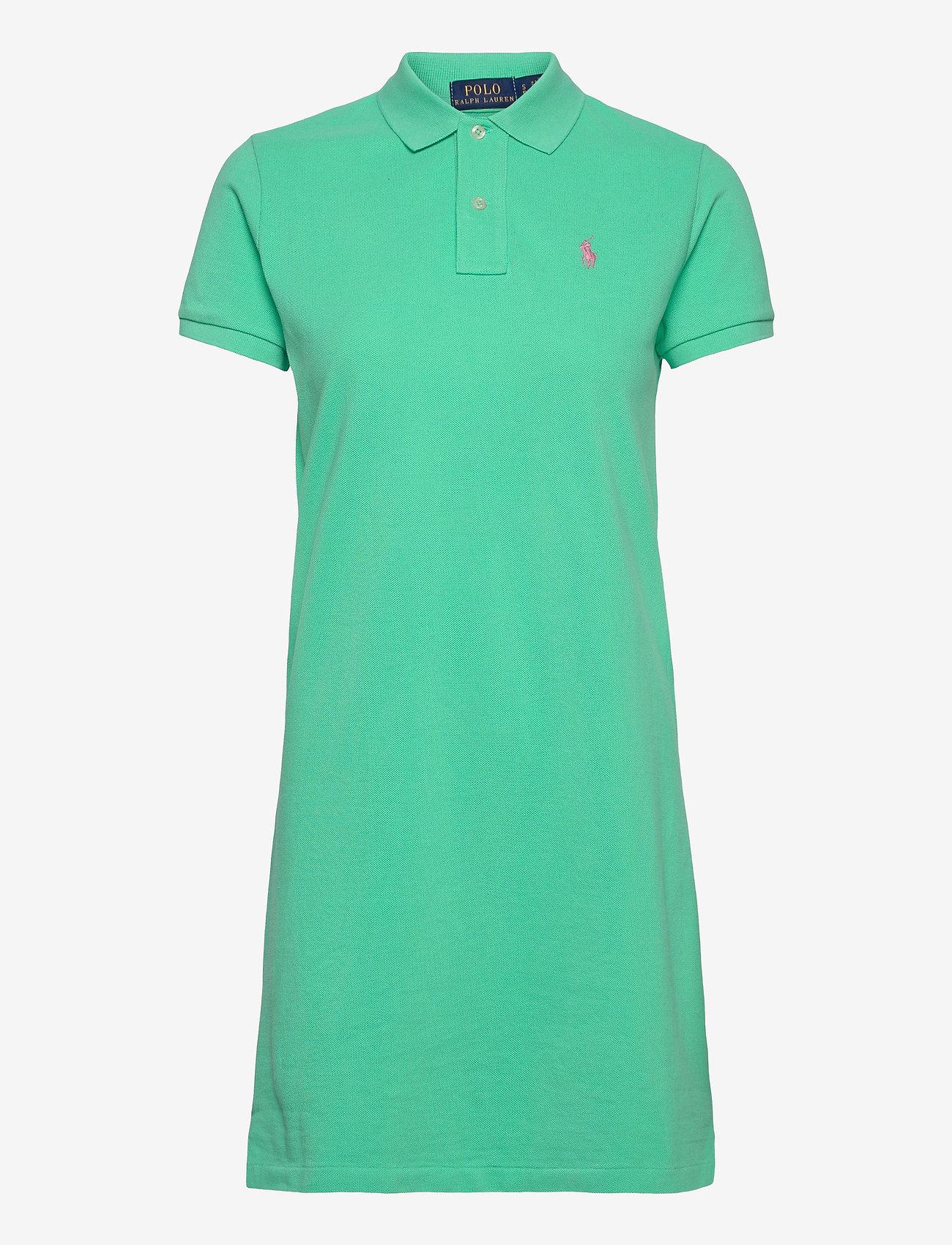 Polo Ralph Lauren - Cotton Polo Dress - hverdagskjoler - sunset green/c312 - 1