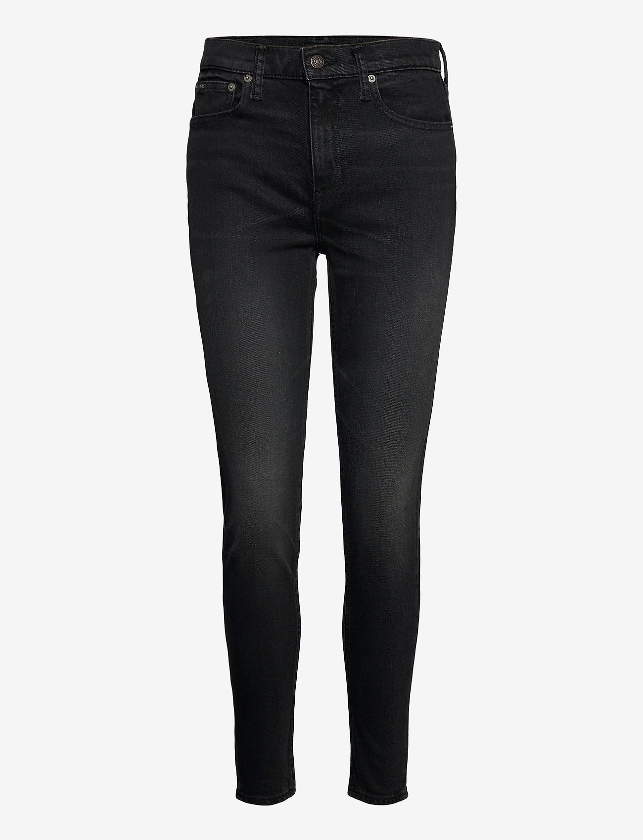 Polo Ralph Lauren - Tompkins High-Rise Skinny Jean - skinny jeans - washed black - 0