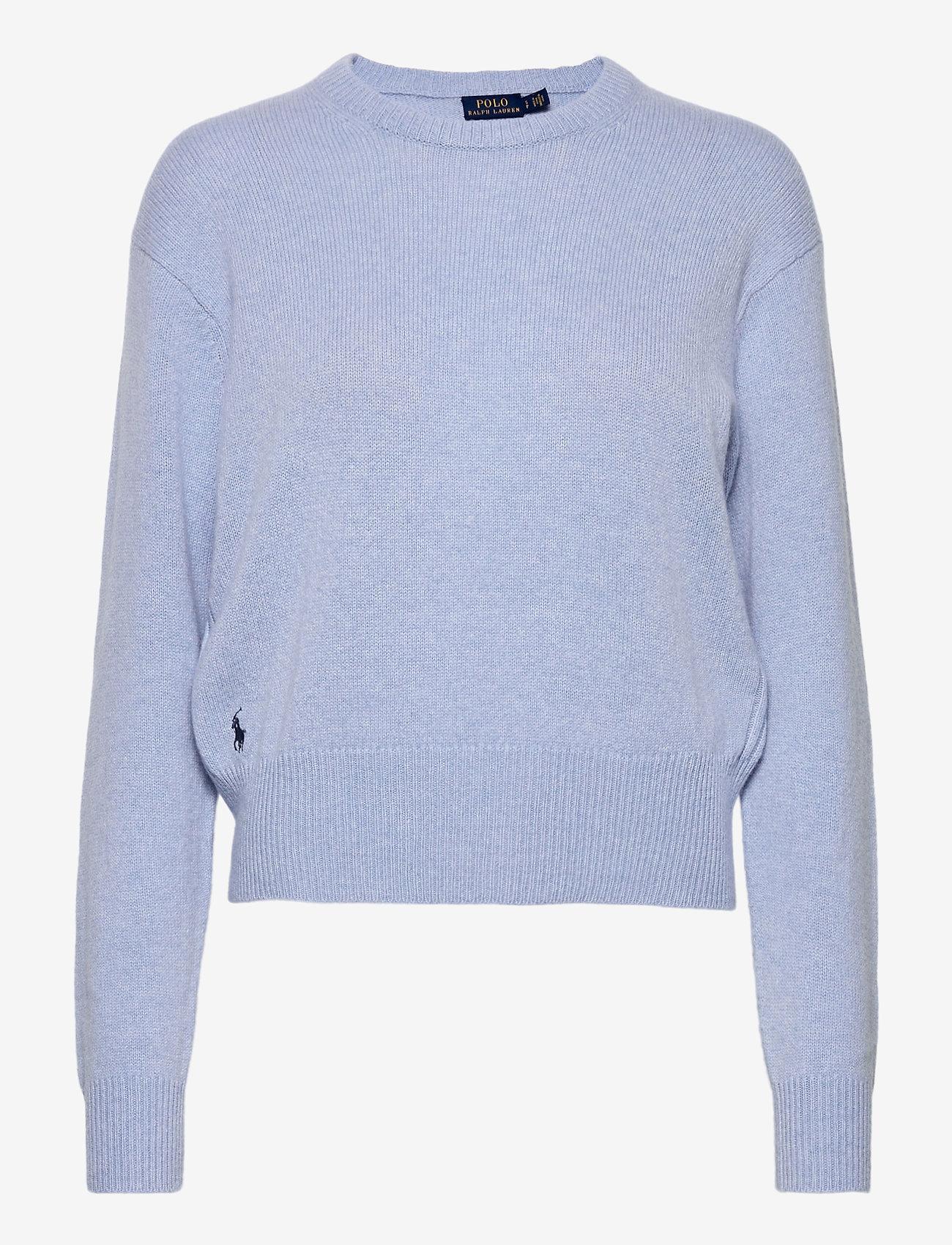 Polo Ralph Lauren - Wool-Blend Crewneck Sweater - jumpers - lt blue heather - 0