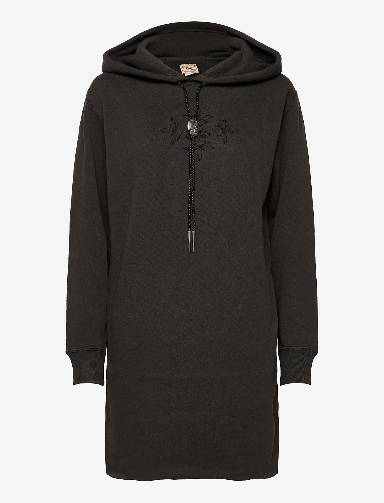 Polo Ralph Lauren - Bolo Fleece Hoodie Dress - midi dresses - black mask - 1