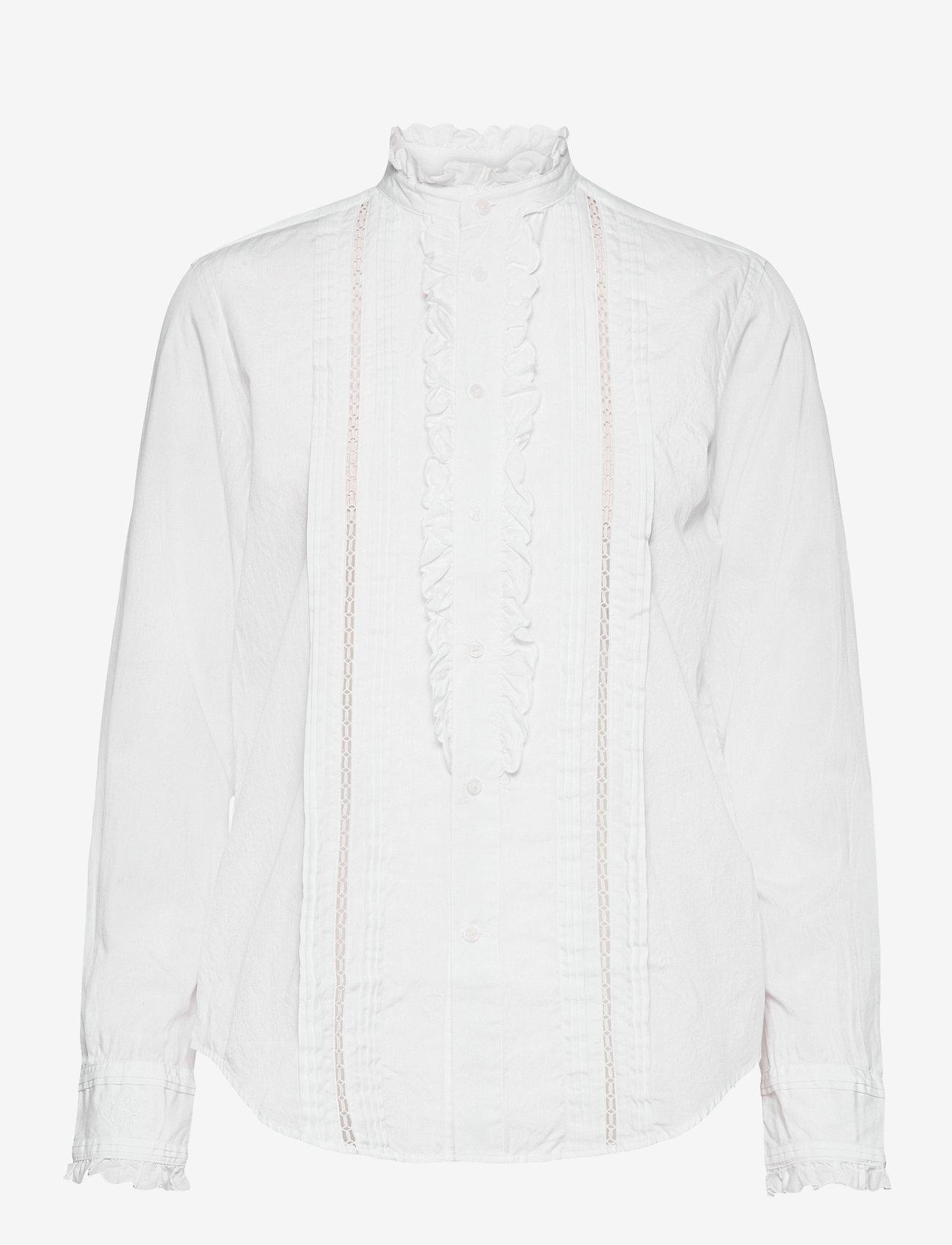 Polo Ralph Lauren - VINTAGE POPLIN-LSL-SHT - long sleeved blouses - white - 1