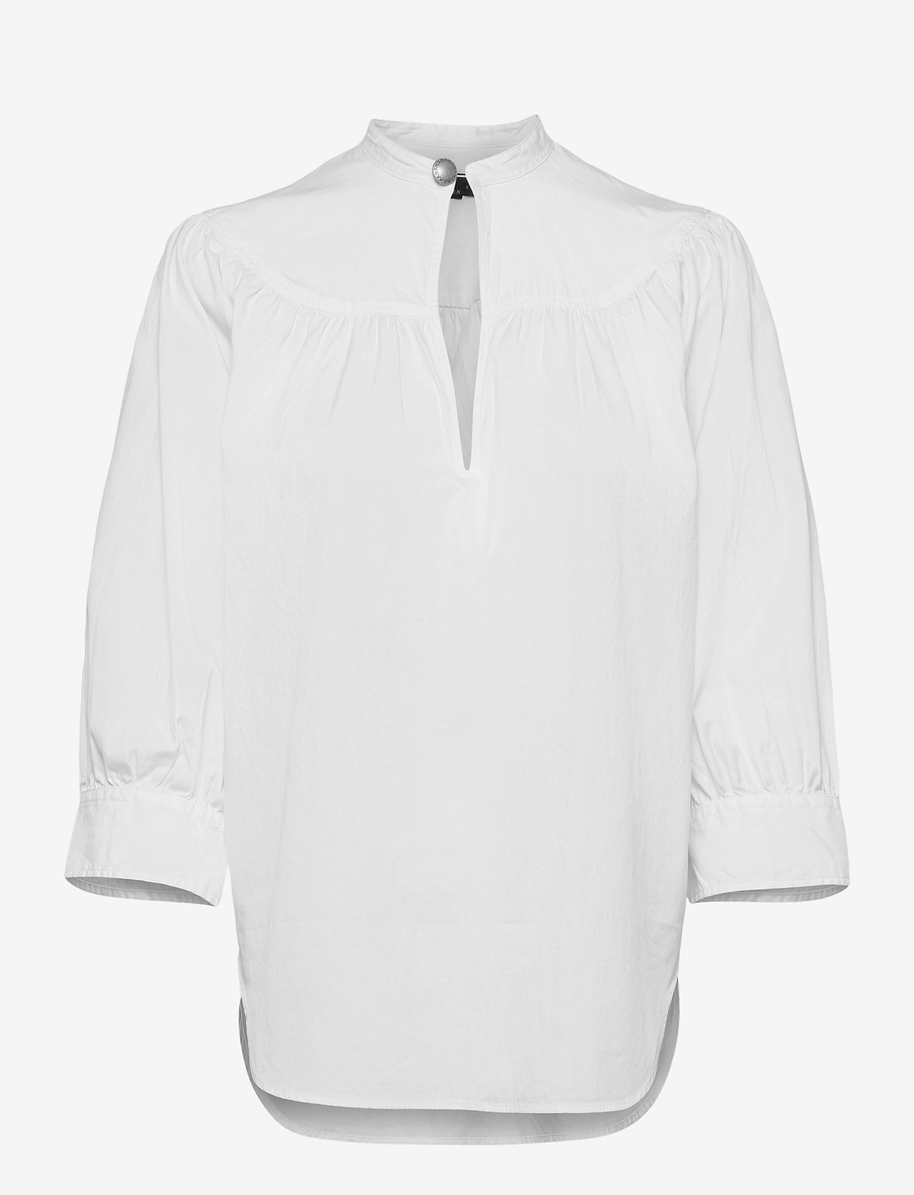Polo Ralph Lauren - Cotton Oxford Keyhole Shirt - long sleeved blouses - white - 1