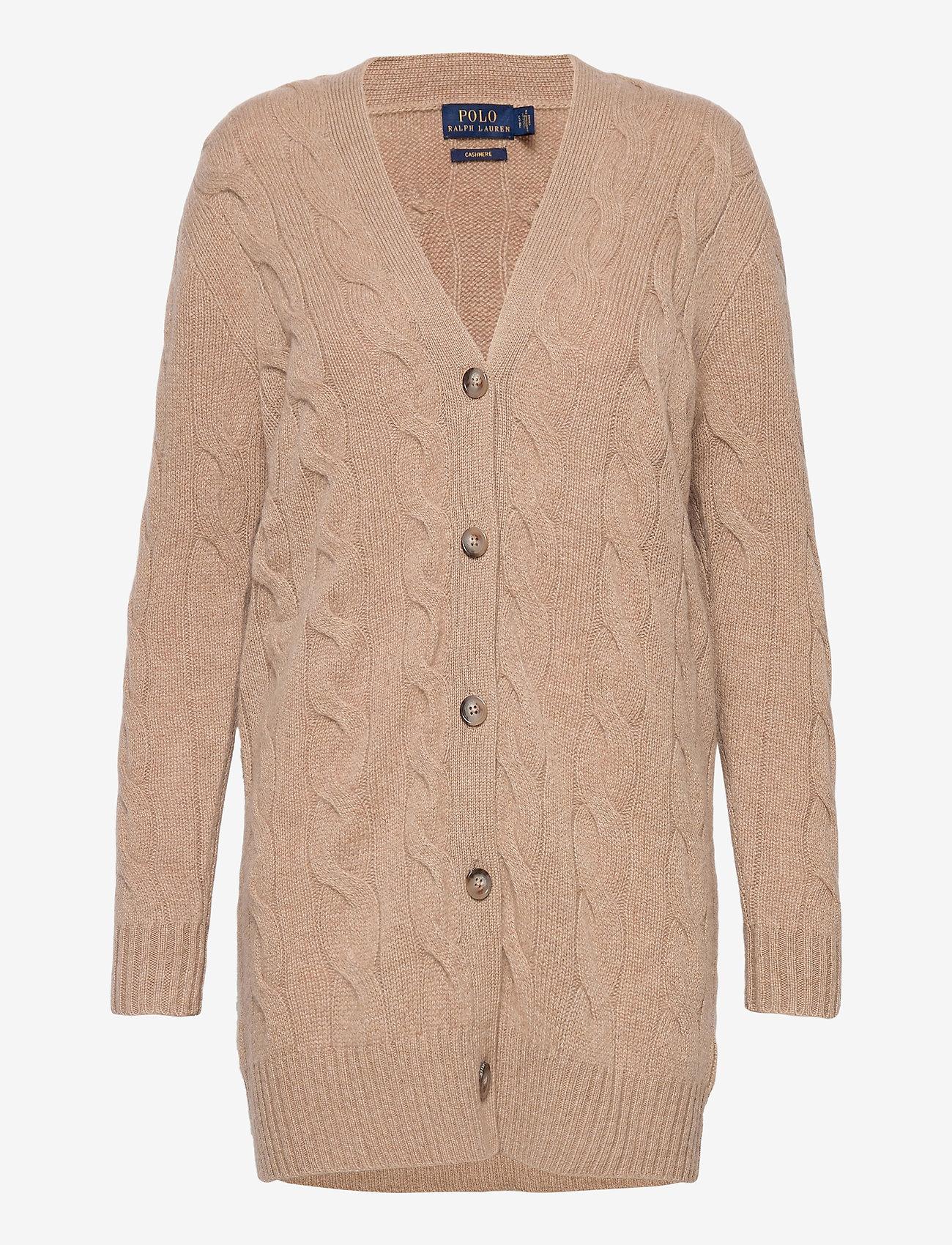 Polo Ralph Lauren - Cable-Knit Cashmere Cardigan - cardigans - luxury beige heat - 0