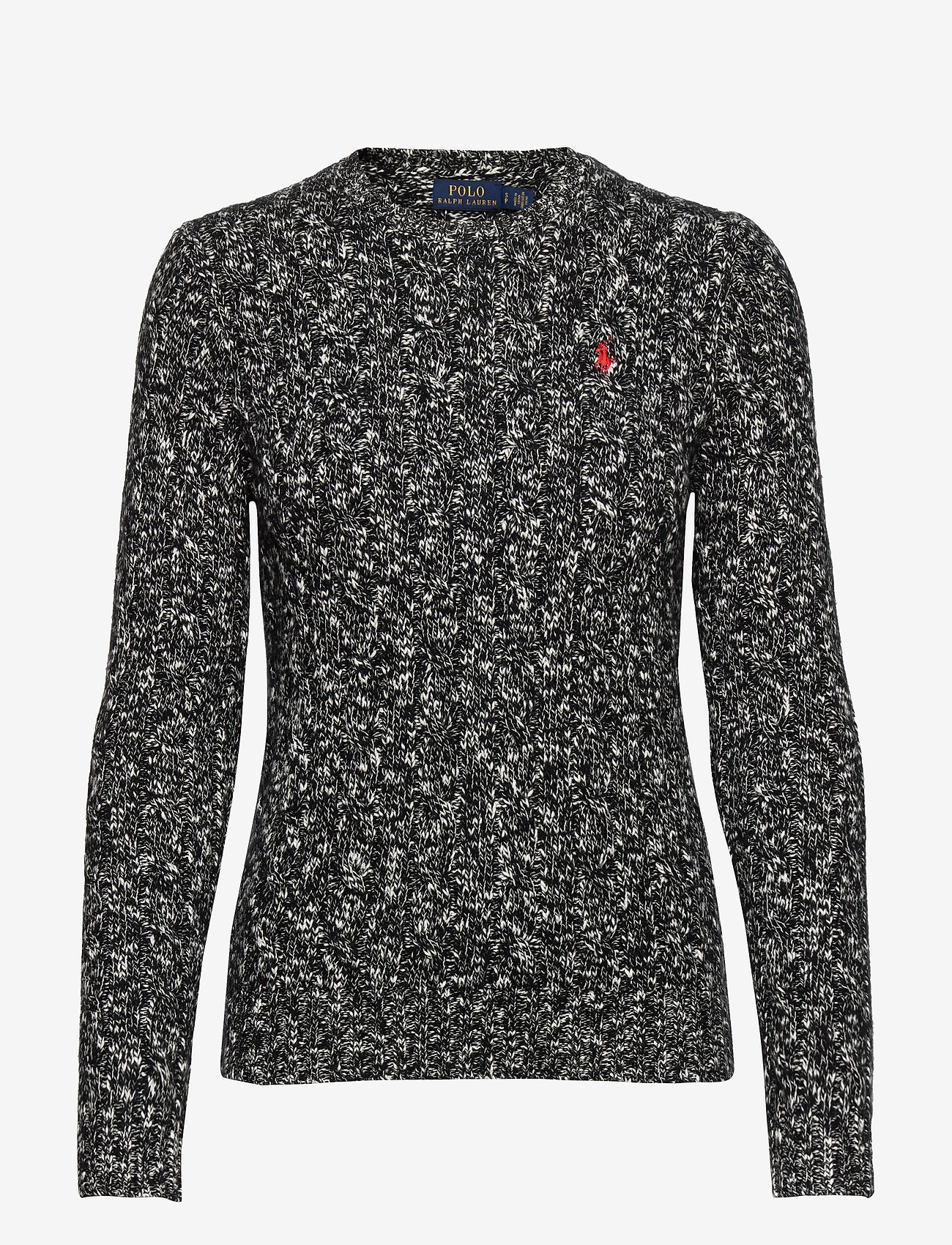 Polo Ralph Lauren - Cable-Knit Wool-Blend Sweater - jumpers - black/cream ragg - 1