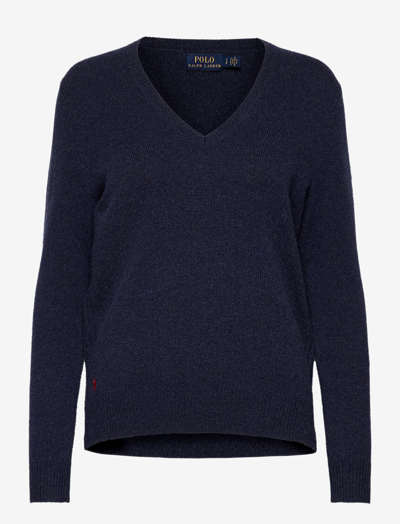 Polo Ralph Lauren - Wool-Blend V-Neck Sweater - jumpers - boathouse navy he - 0