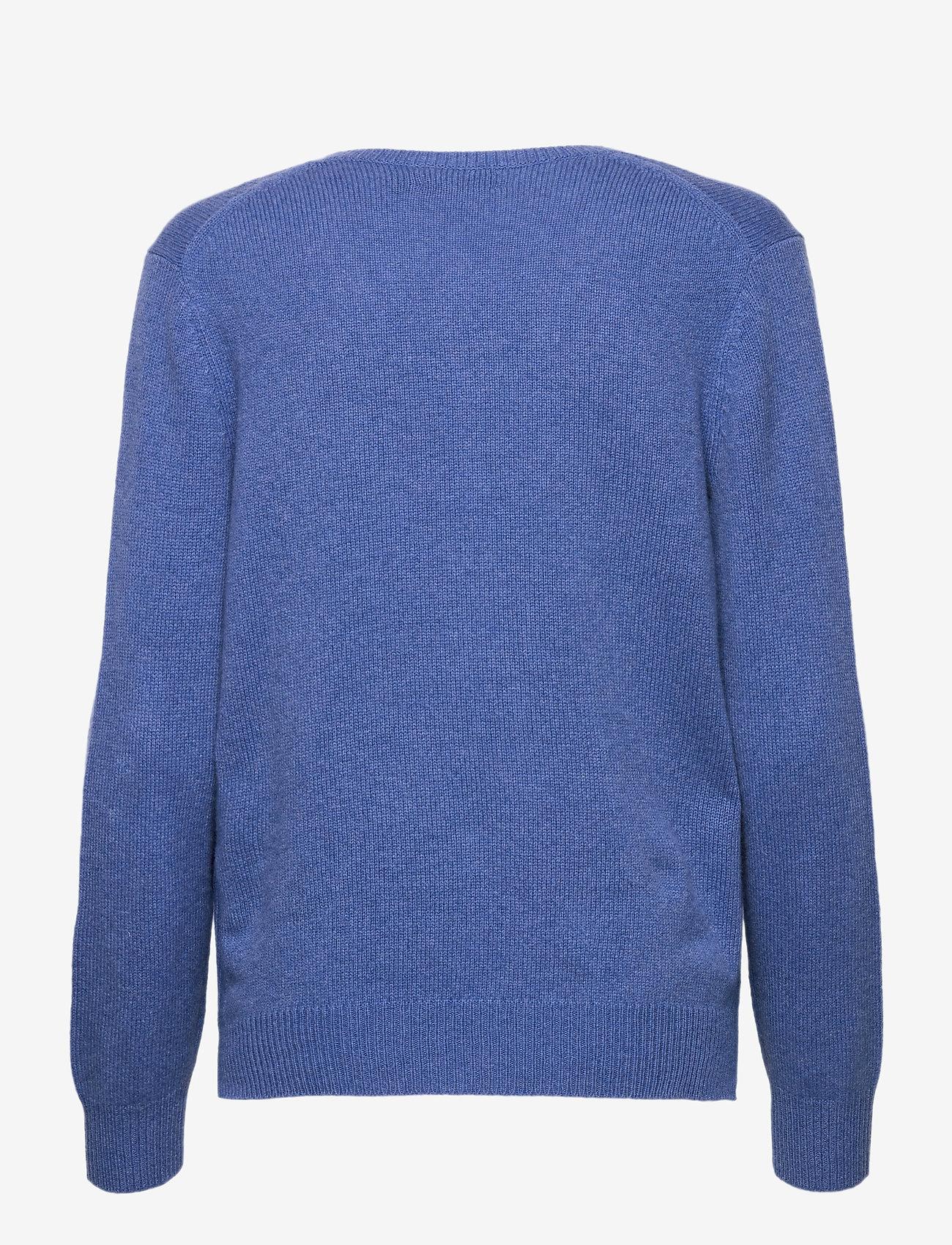 Polo Ralph Lauren - Wool-Blend V-Neck Sweater - jumpers - deep blue heather - 1
