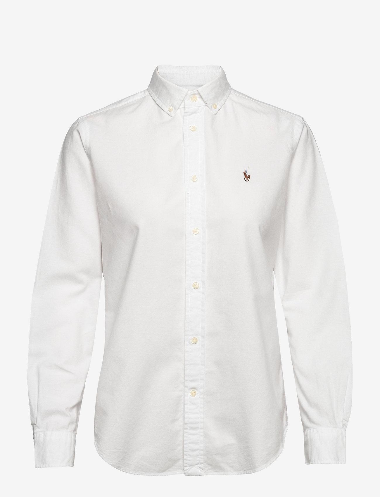 Polo Ralph Lauren - LT WT OXFORD-LSL-SHT - long-sleeved shirts - bsr white - 0