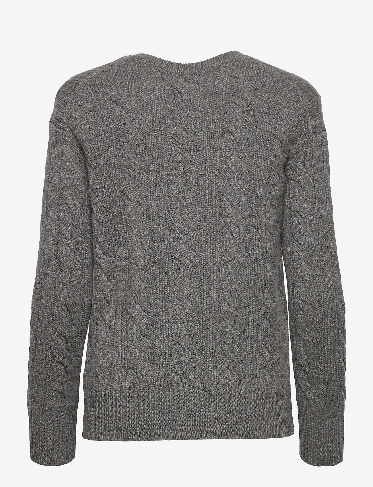 Polo Ralph Lauren - Cable-Knit Wool-Cashmere Sweater - jumpers - antique heather - 1