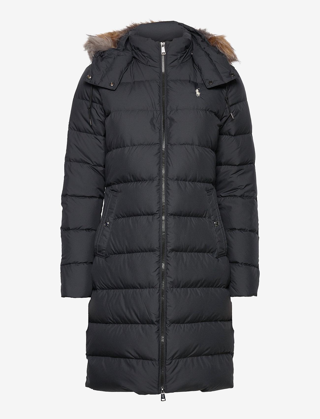 Polo Ralph Lauren - Faux Fur-Trim Down Coat - winter coats - polo black - 1