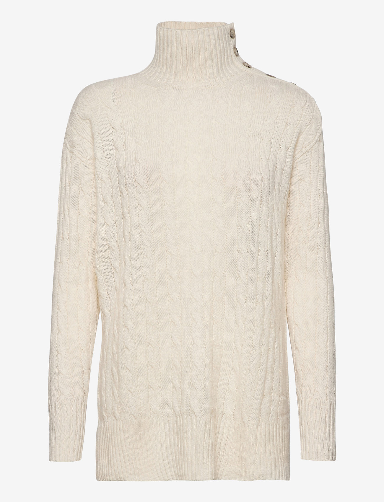 Polo Ralph Lauren - Buttoned-Placket Turtleneck - turtlenecks - cream - 0
