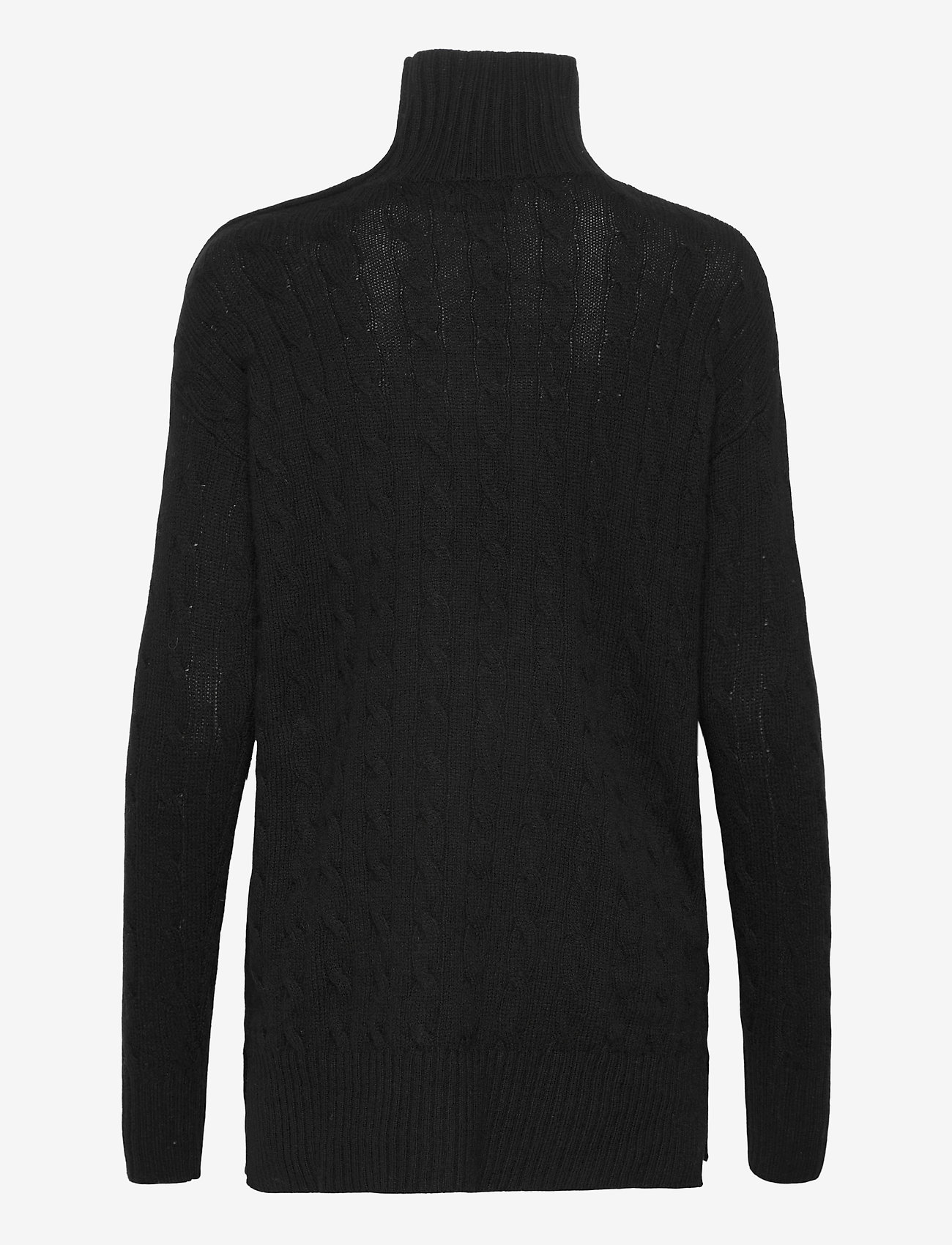 Polo Ralph Lauren - Buttoned-Placket Turtleneck - turtlenecks - polo black - 1