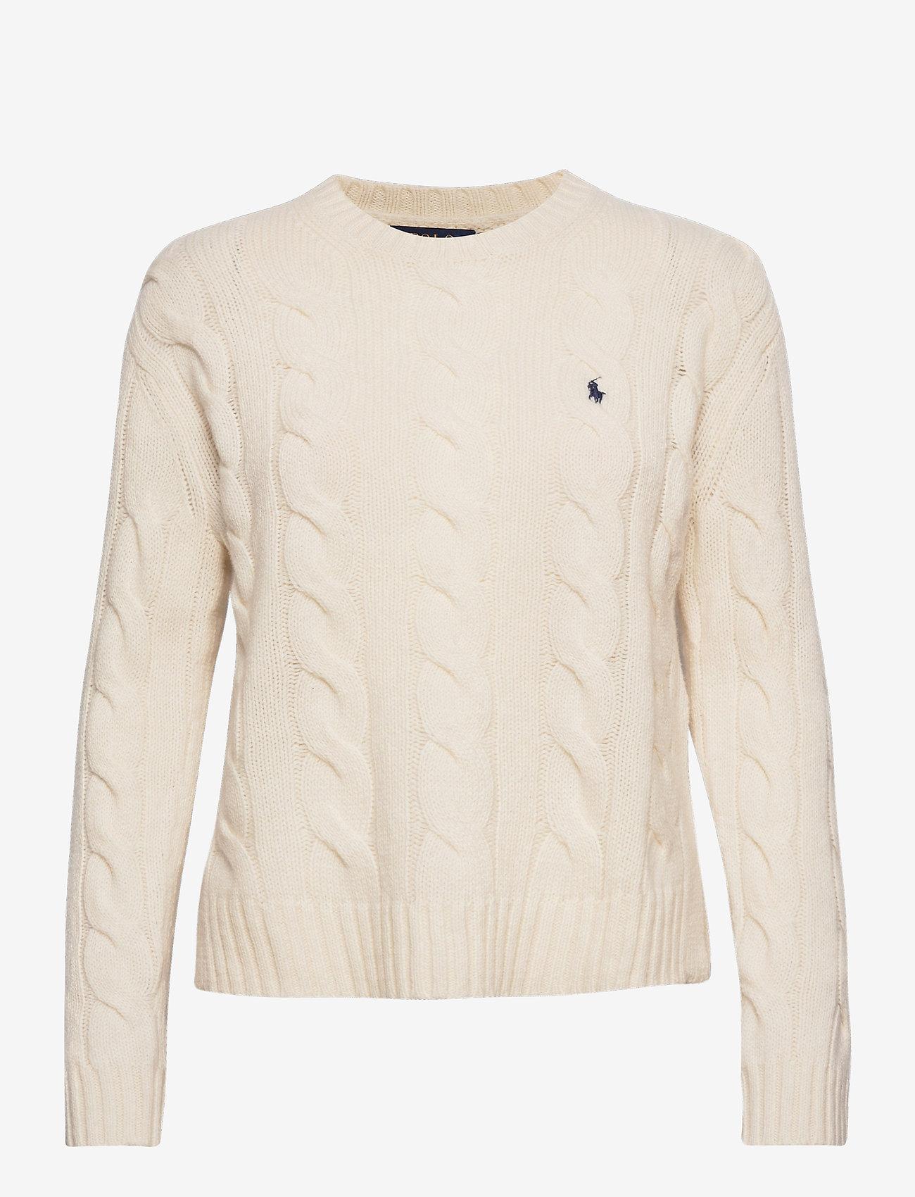 Polo Ralph Lauren - WOOL/CASHMERE BLEND-LSL-SWT - jumpers - cream - 1