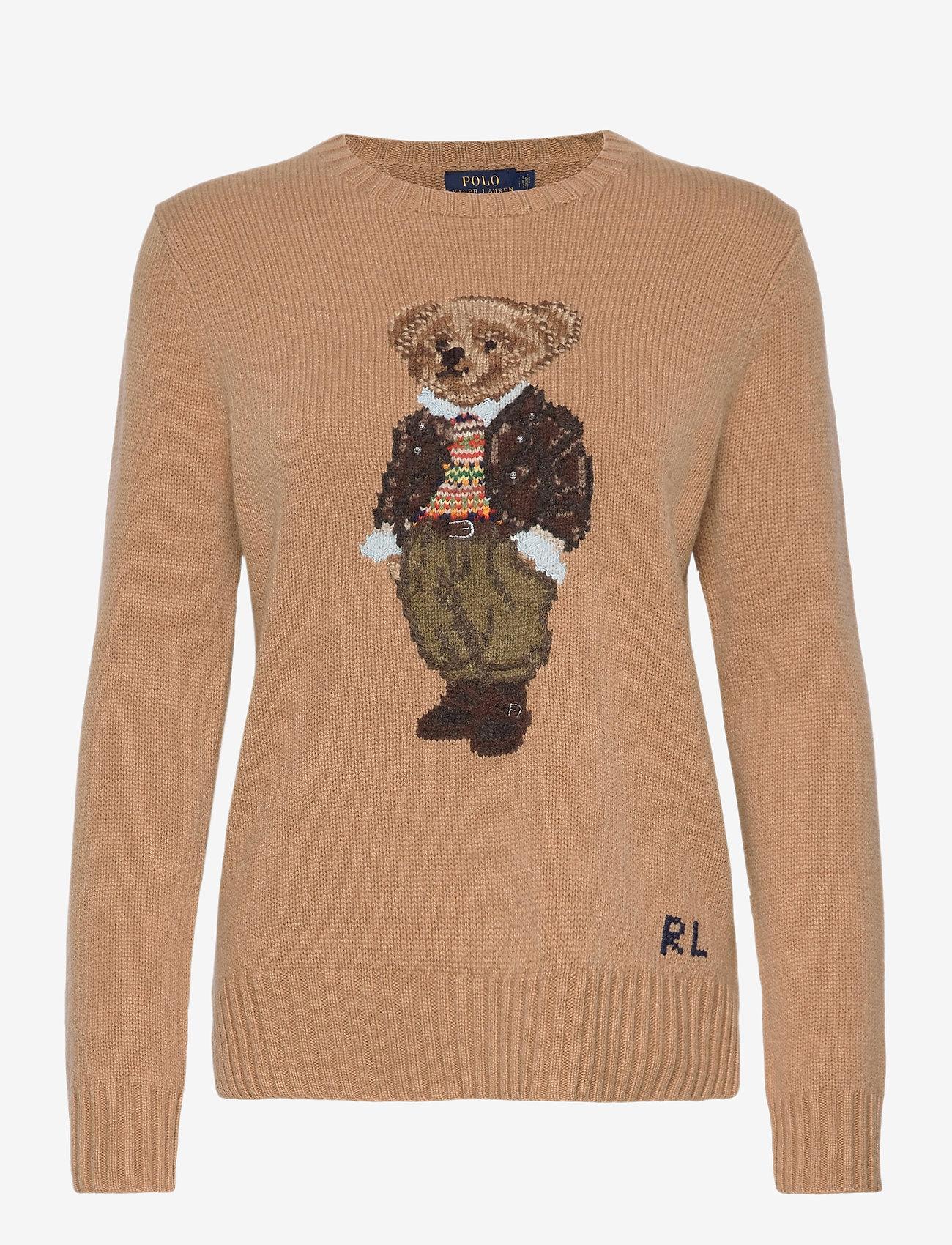 Polo Ralph Lauren - Polo Bear Wool-Blend Sweater - jumpers - camel melange mul - 1