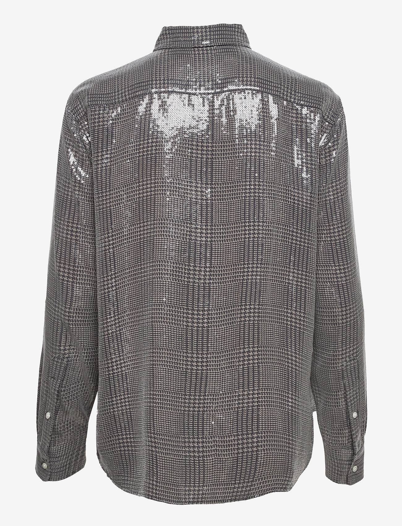 Polo Ralph Lauren - SQ PRNTD POLY GGT-LSL-SHT - long-sleeved shirts - grey/black glen p - 1
