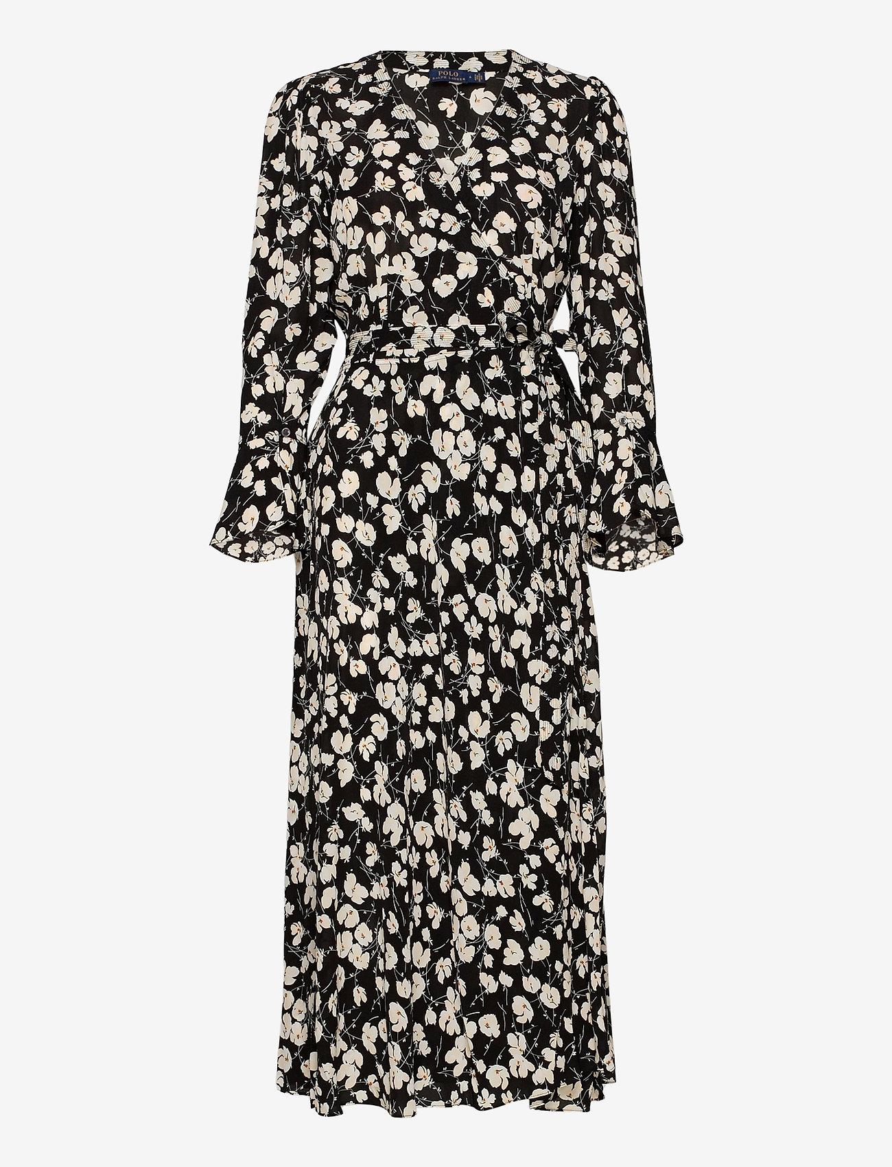 Polo Ralph Lauren - Floral Wrap Dress - everyday dresses - 766 black/white i - 1