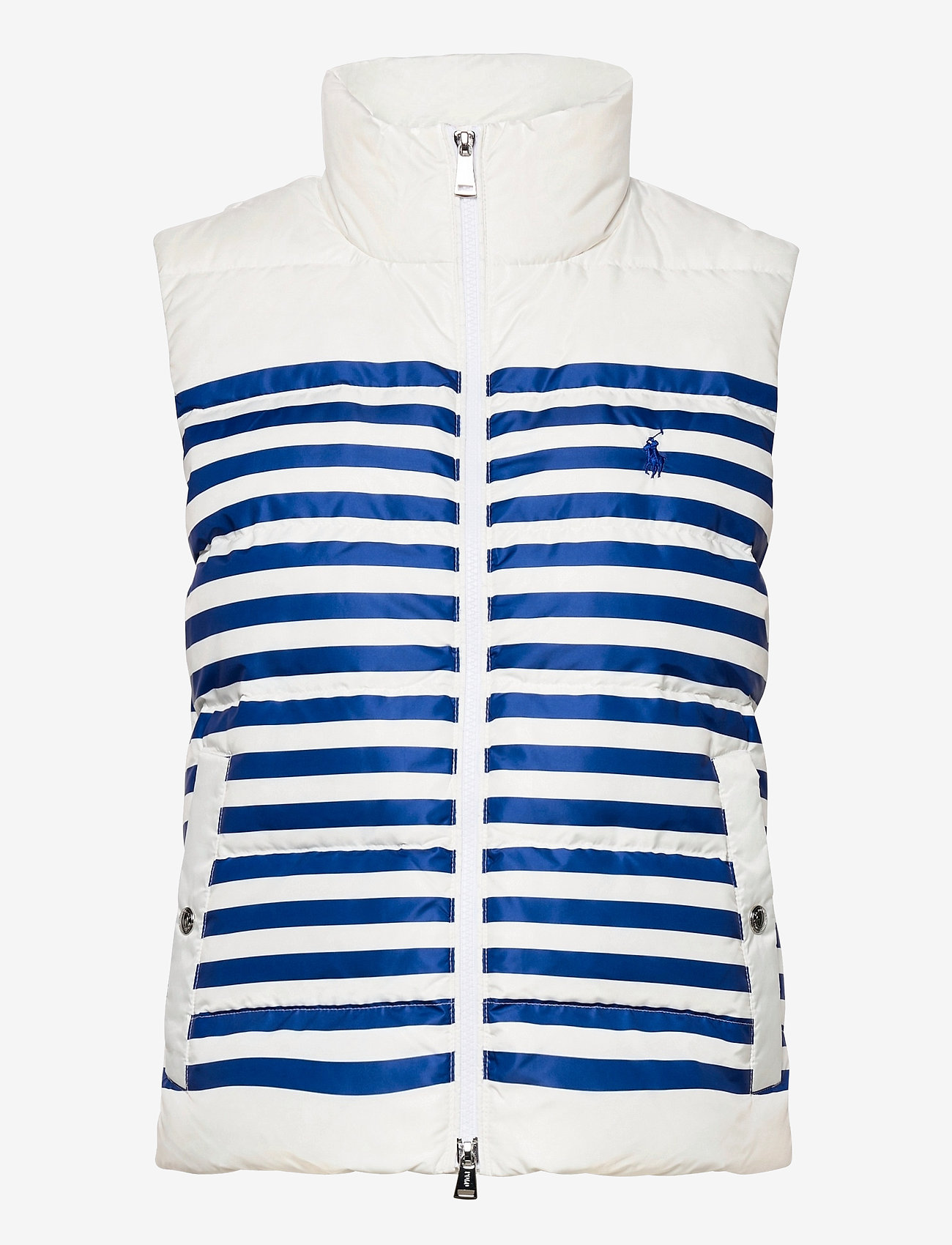 Polo Ralph Lauren - Belmont Striped Down-Filled Vest - puffer vests - white/blue stripe - 1