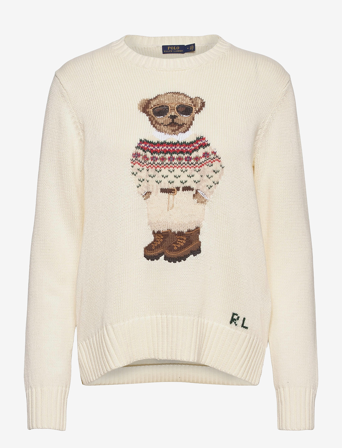 Polo Ralph Lauren - Polo Bear Crewneck Sweater - trøjer - cream multi - 1