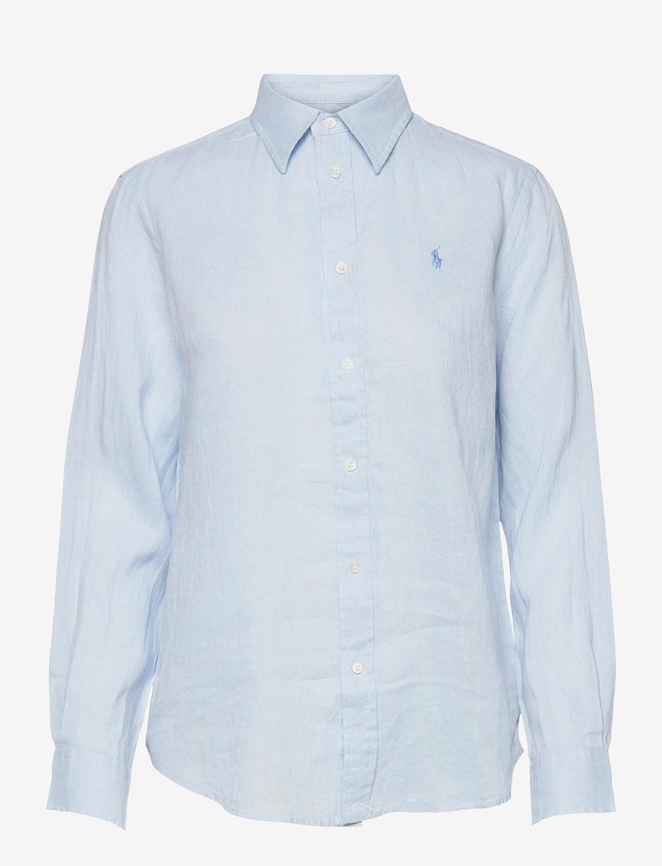 Polo Ralph Lauren - Relaxed Fit Linen Shirt - langærmede skjorter - beryl blue - 0