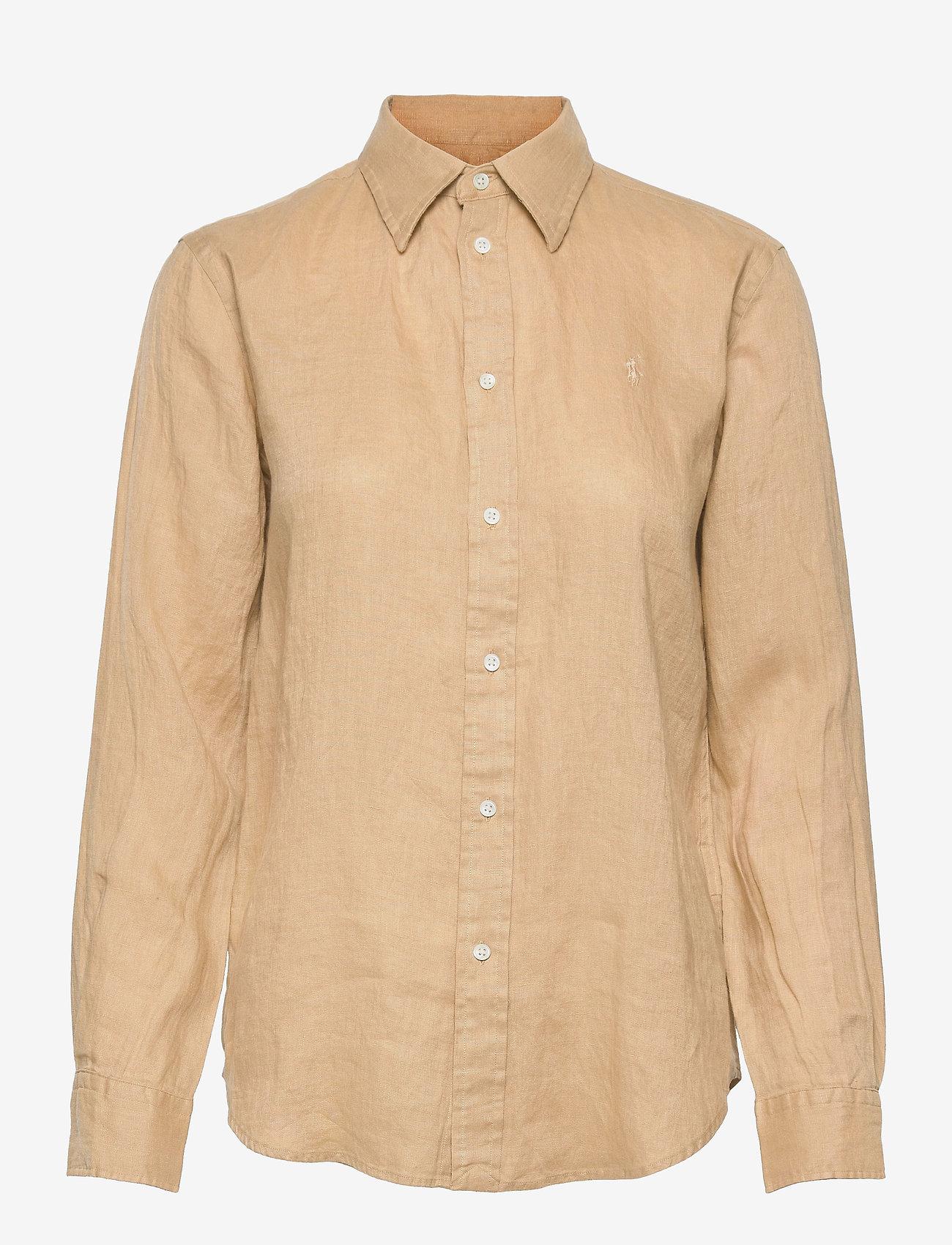 Polo Ralph Lauren - Relaxed Fit Linen Shirt - langærmede skjorter - polo tan - 0