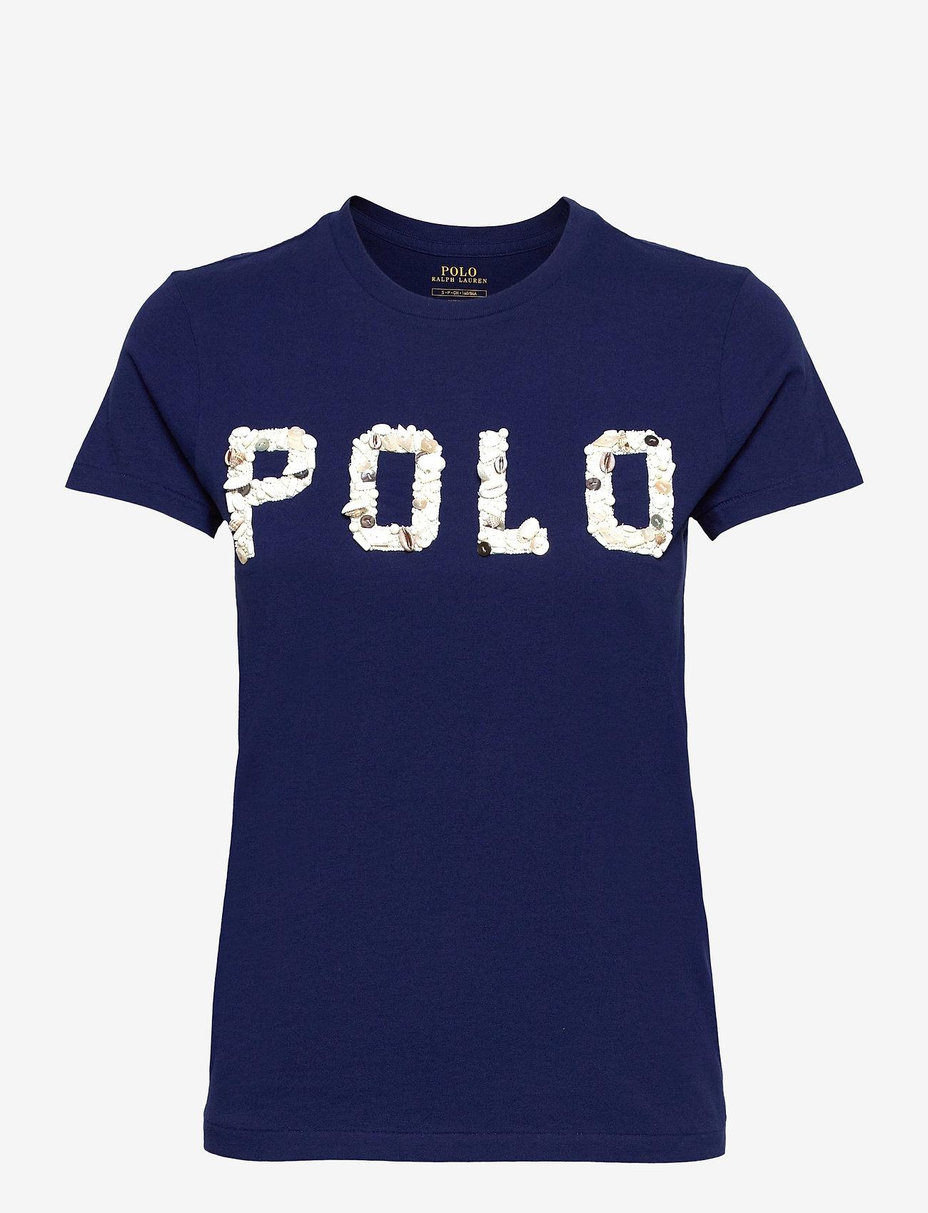 Polo Ralph Lauren - Seashell Logo Cotton Jersey Tee - t-shirts - holiday navy - 1