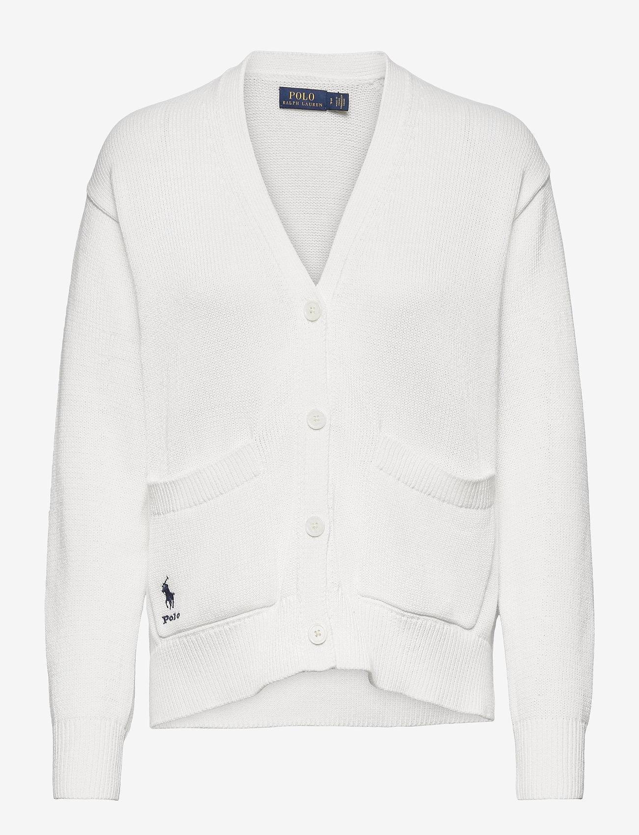 Polo Ralph Lauren - COTTON JERSEY-LSL-SWT - cardigans - white - 1