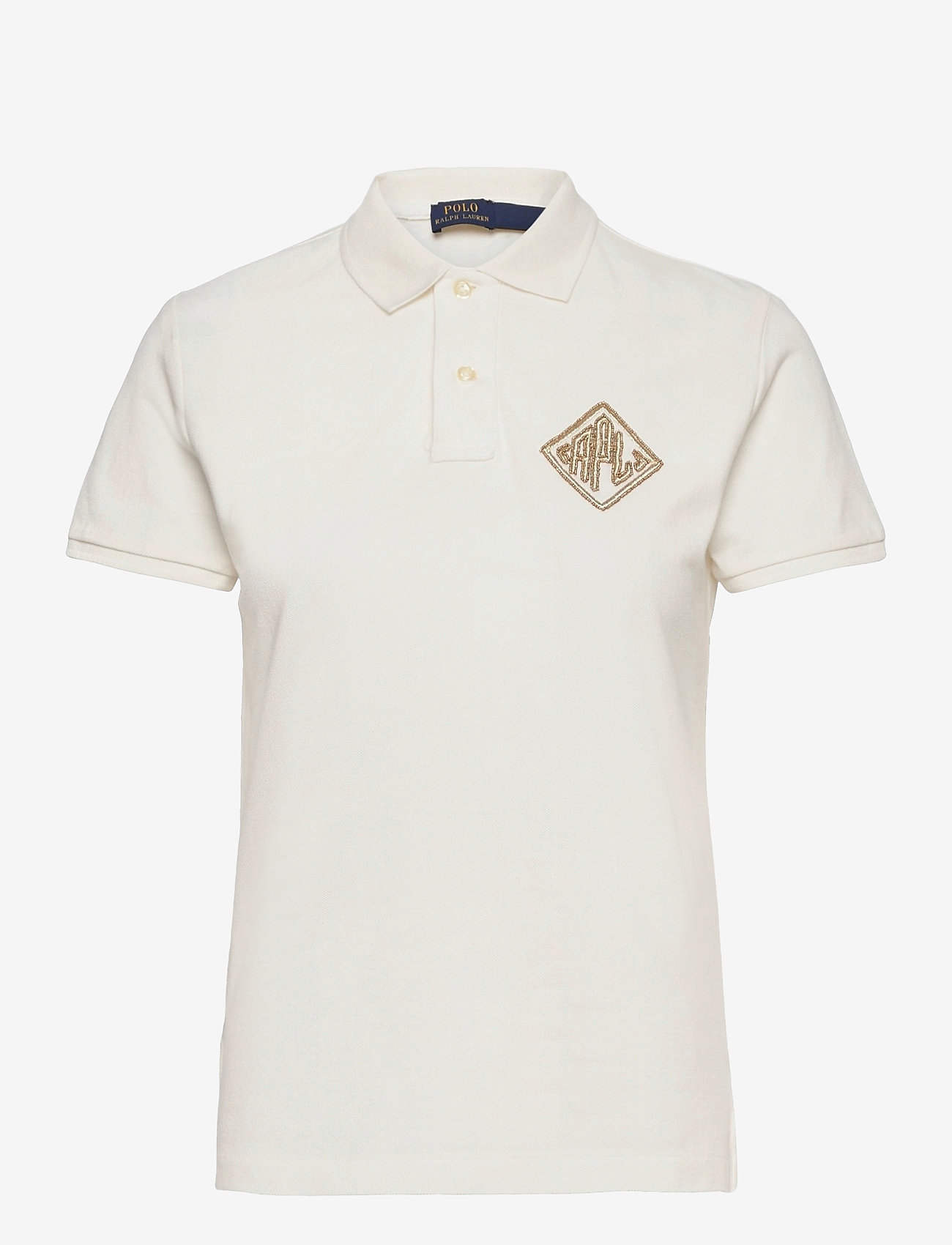 Polo Ralph Lauren - Beaded-Logo Polo Shirt - polohemden - deckwash white - 1