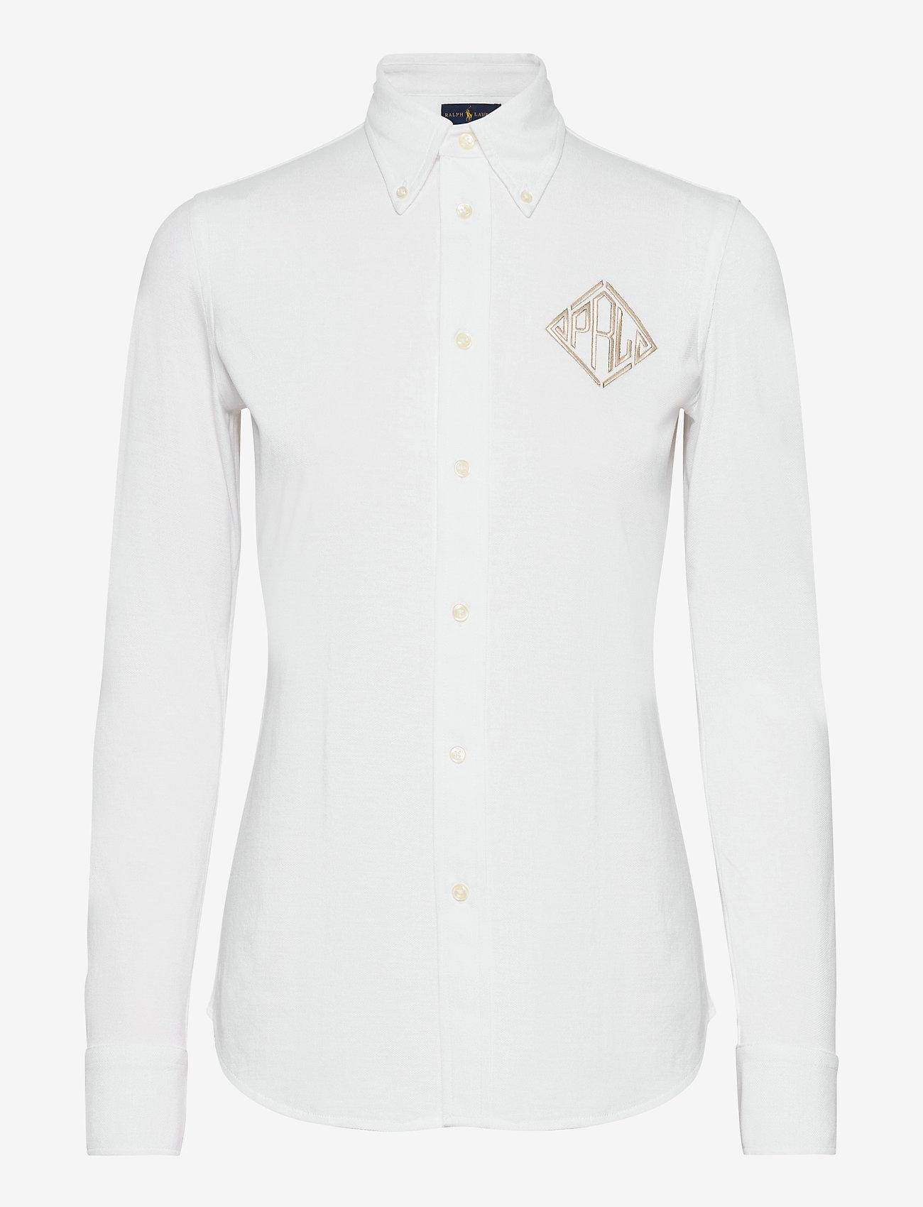Polo Ralph Lauren - Monogram Oxford Shirt - bluser & skjorter - white - 1