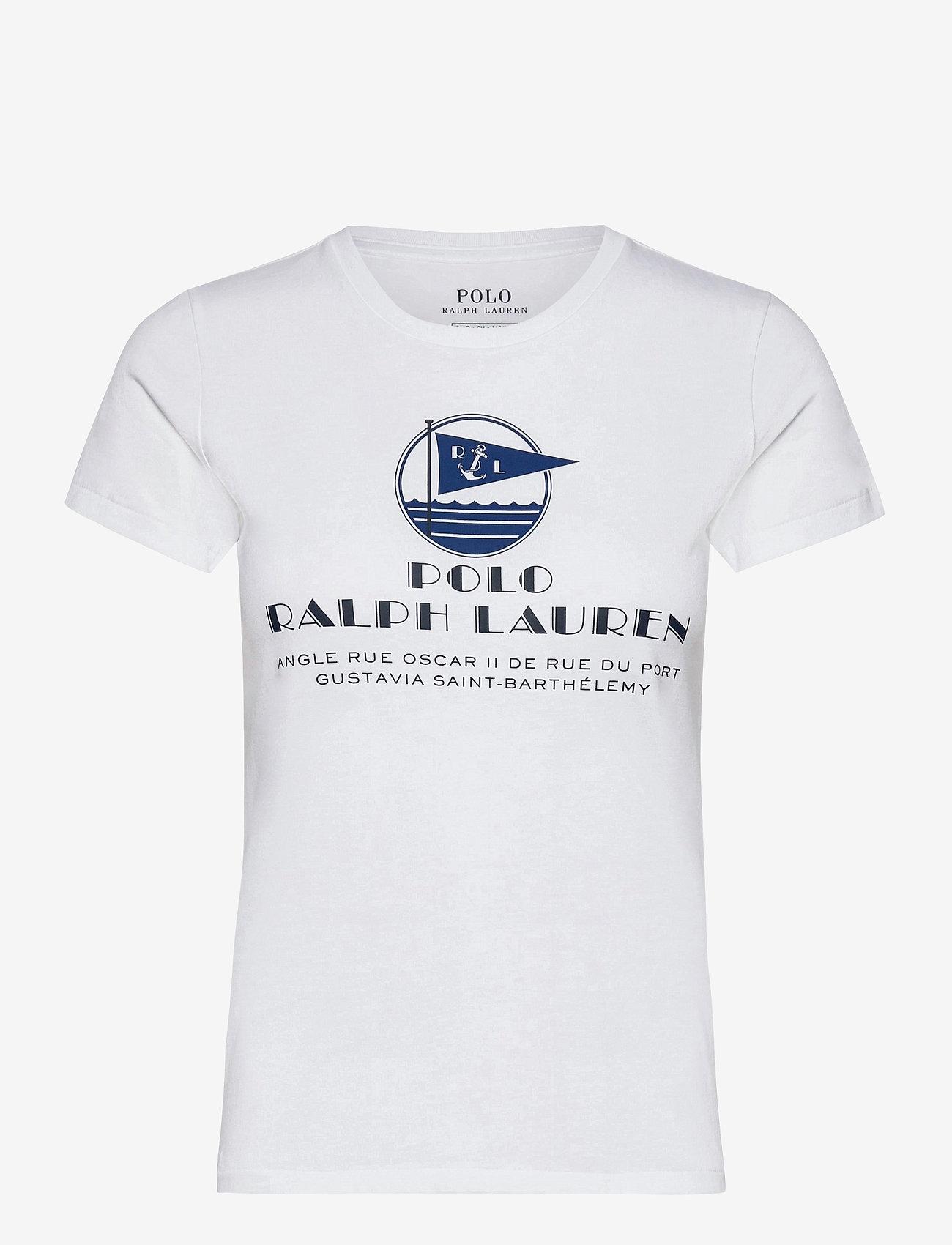 Polo Ralph Lauren - Graphic Logo Cotton Tee - t-shirts - white - 1