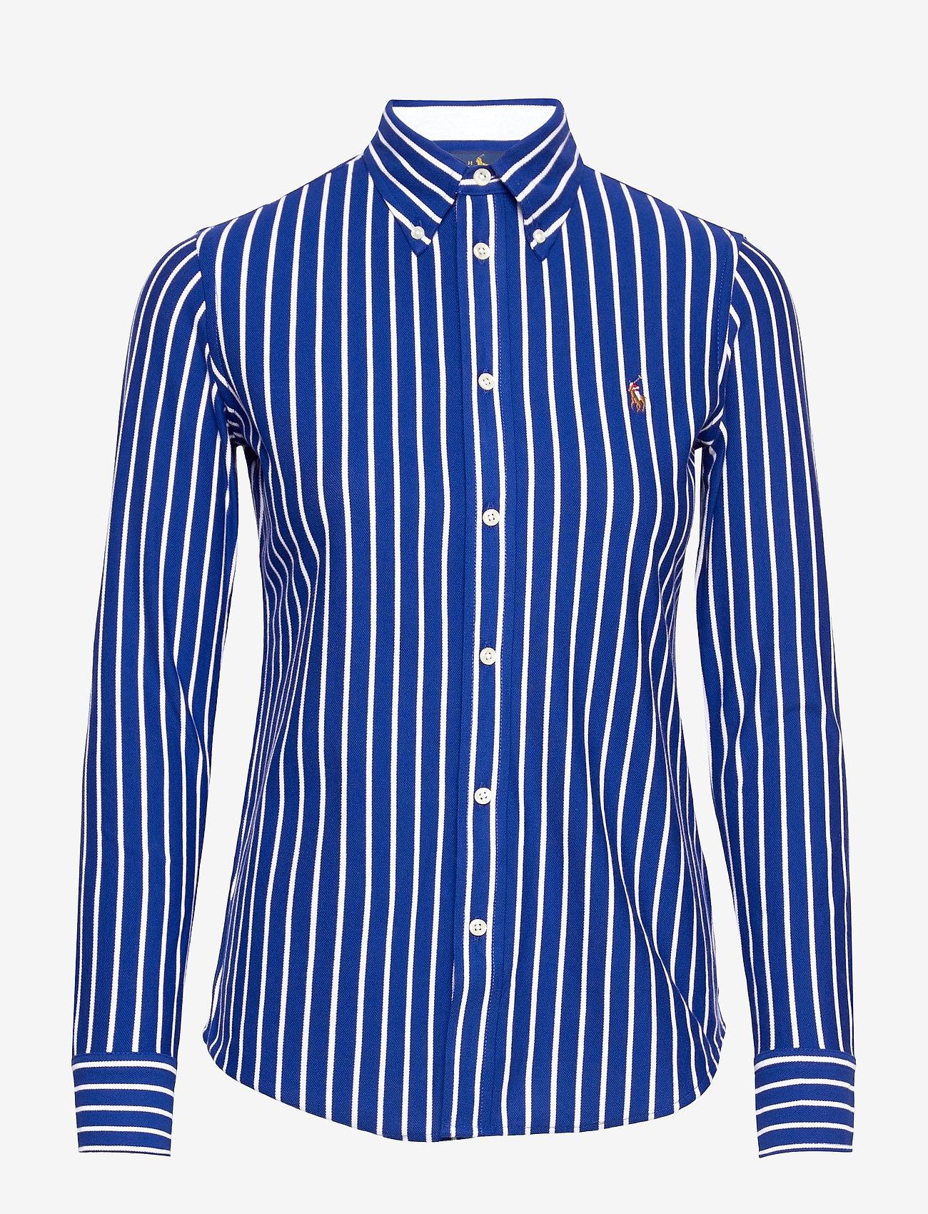 Polo Ralph Lauren - Striped Cotton Button-Down Shirt - langærmede skjorter - active royal/whit - 1