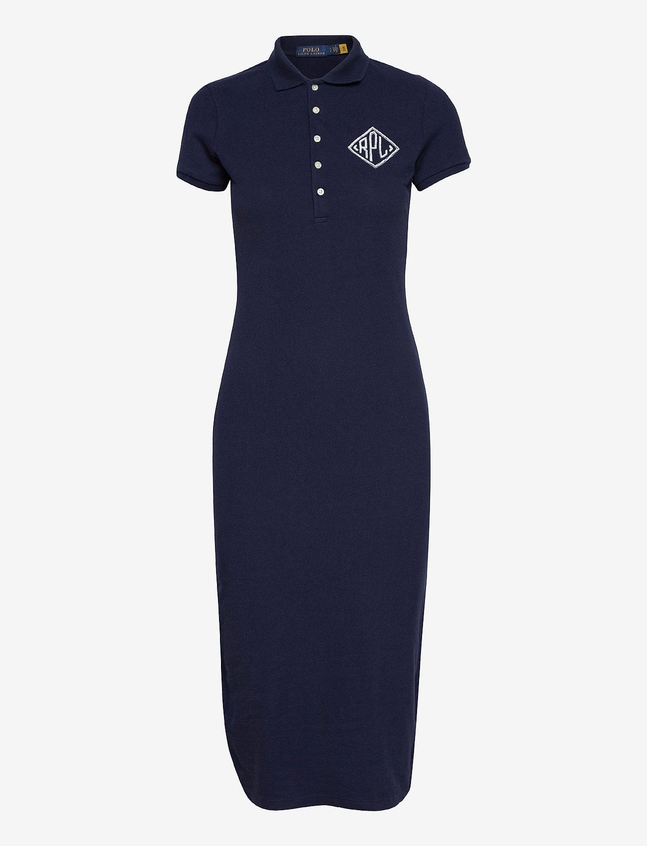 Polo Ralph Lauren - Piqué Polo Dress - sommerkjoler - cruise navy - 1