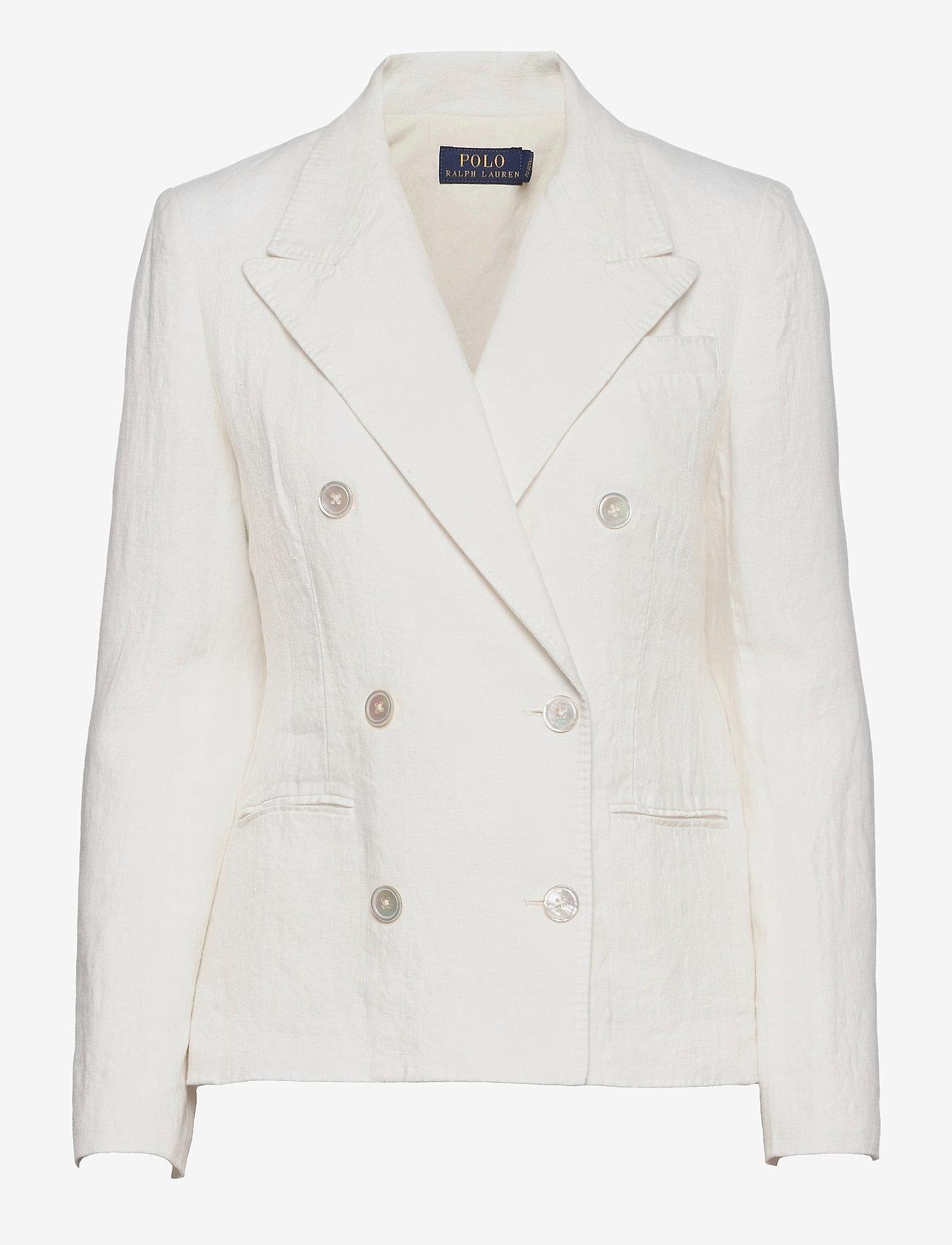 Polo Ralph Lauren - Double-Breasted Linen Blazer - dobbeltradede blazere - nevis - 1