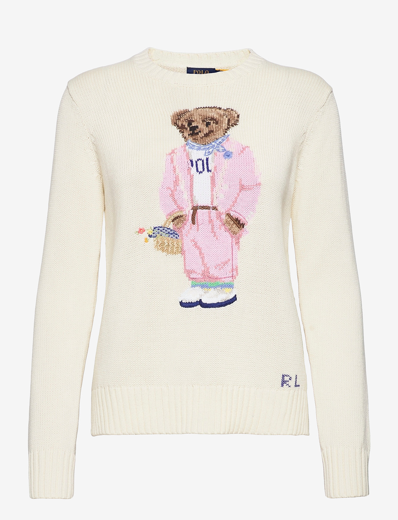 Polo Ralph Lauren - Picnic Polo Bear Sweater - trøjer - cream - 0