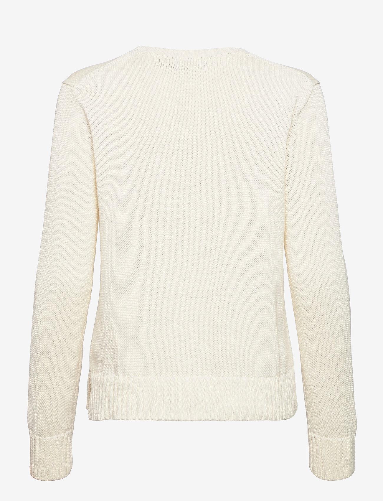 Polo Ralph Lauren - Picnic Polo Bear Sweater - trøjer - cream - 1