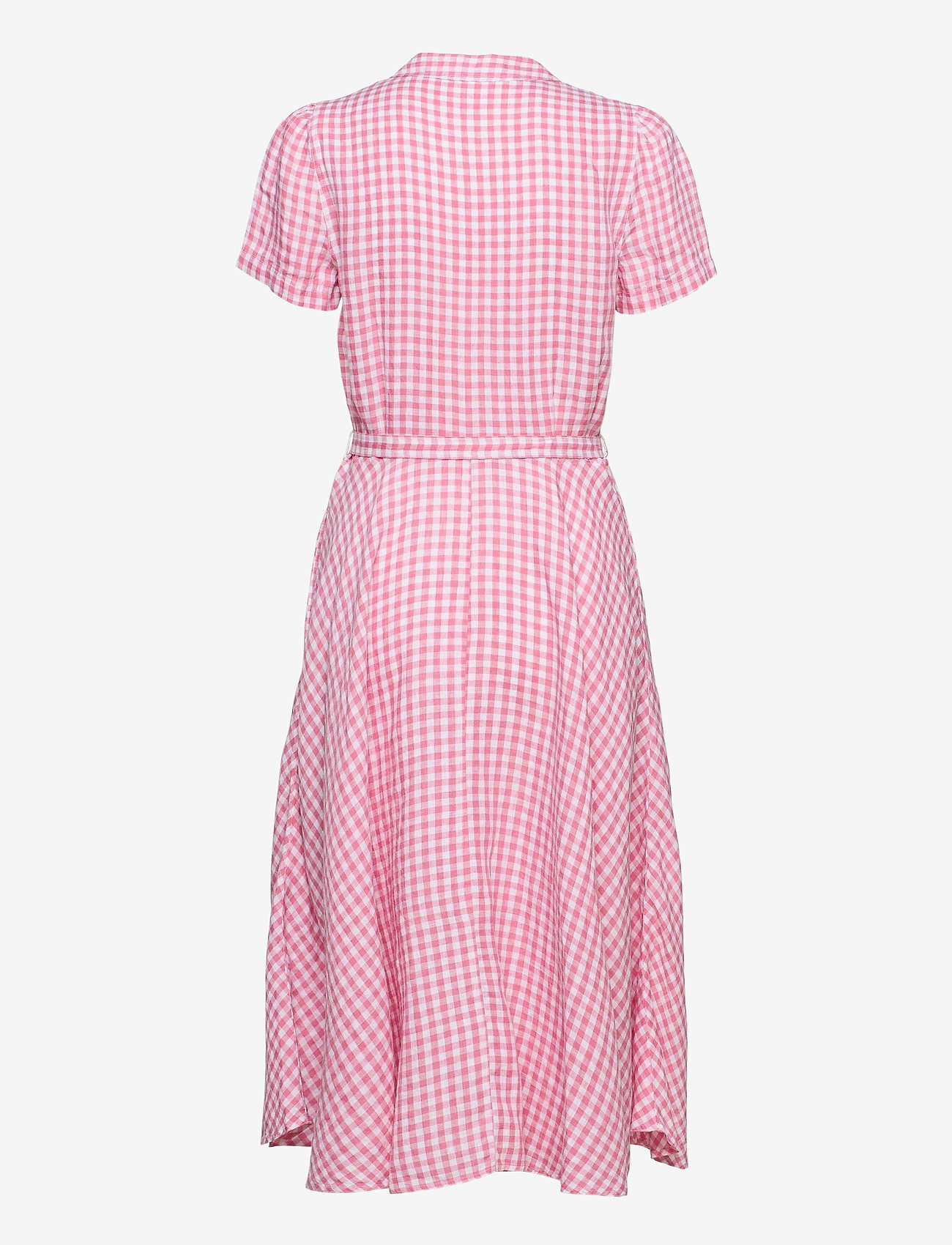 Polo Ralph Lauren - Gingham Linen Shirtdress - sommerkjoler - 918 ribbon pink/w - 1