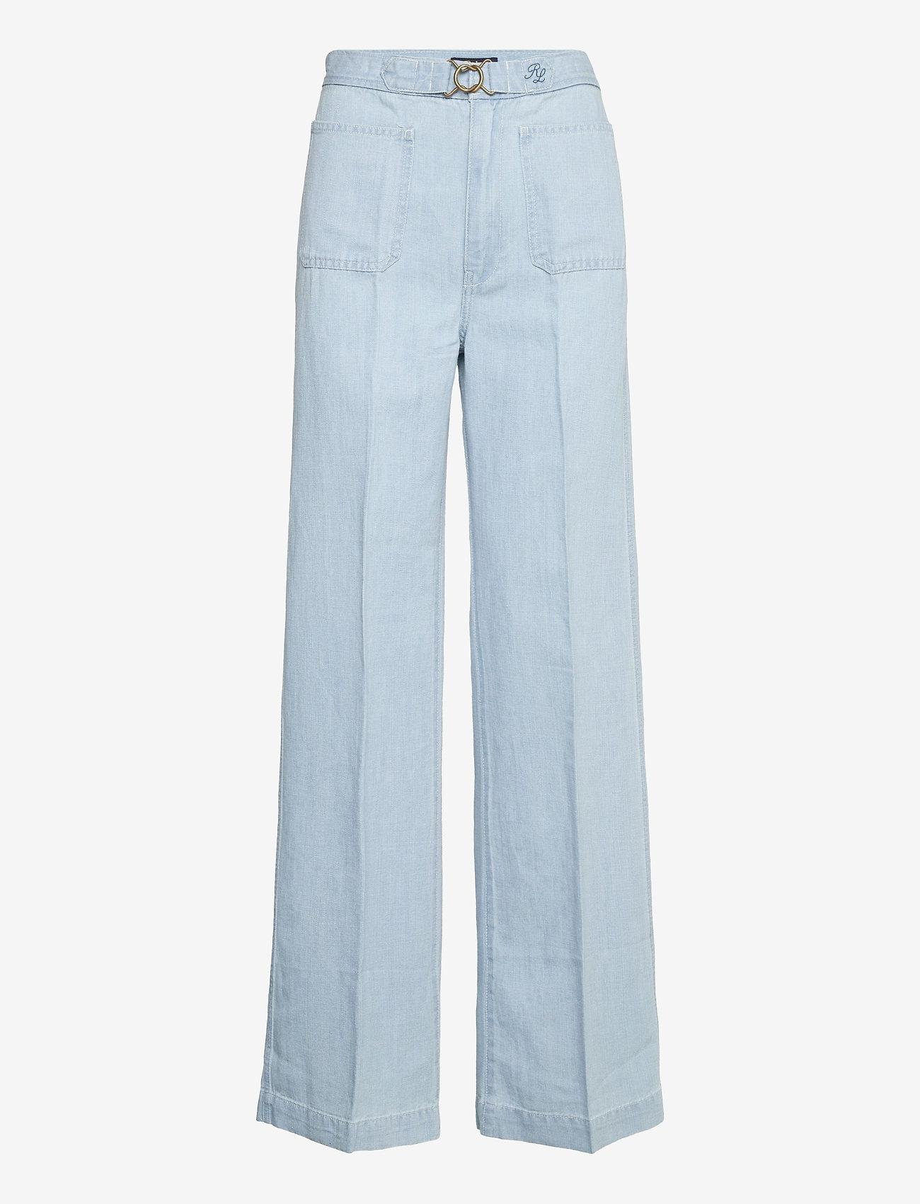 Polo Ralph Lauren - Margery Wide-Leg Jean - brede jeans - light indigo - 0