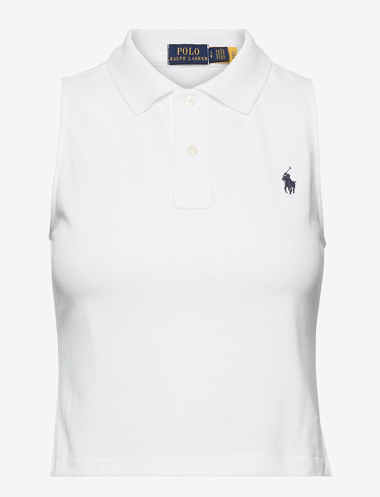 Polo Ralph Lauren - Cotton Sleeveless Polo Shirt - polohemden - white - 0