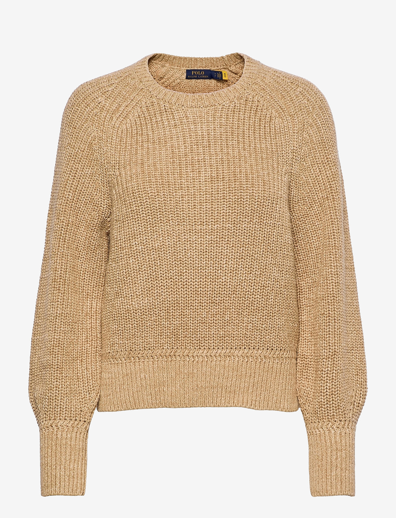 Polo Ralph Lauren - BLN SLV PO-LONG SLEEVE-SWEATER - jumpers - straw - 0