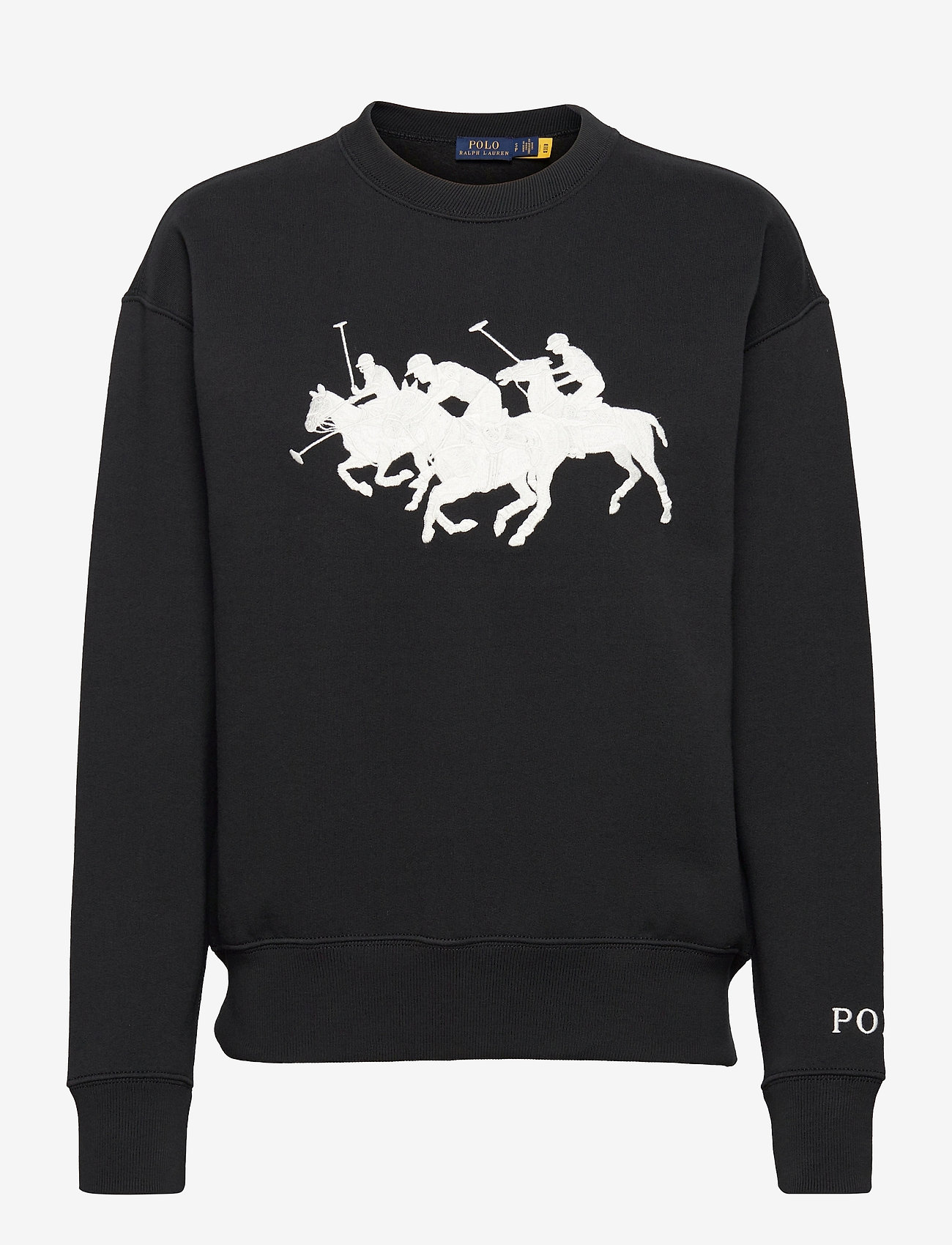 Polo Ralph Lauren - HEARD CN PO-LONG SLEEVE-KNIT - sweatshirts - polo black - 0