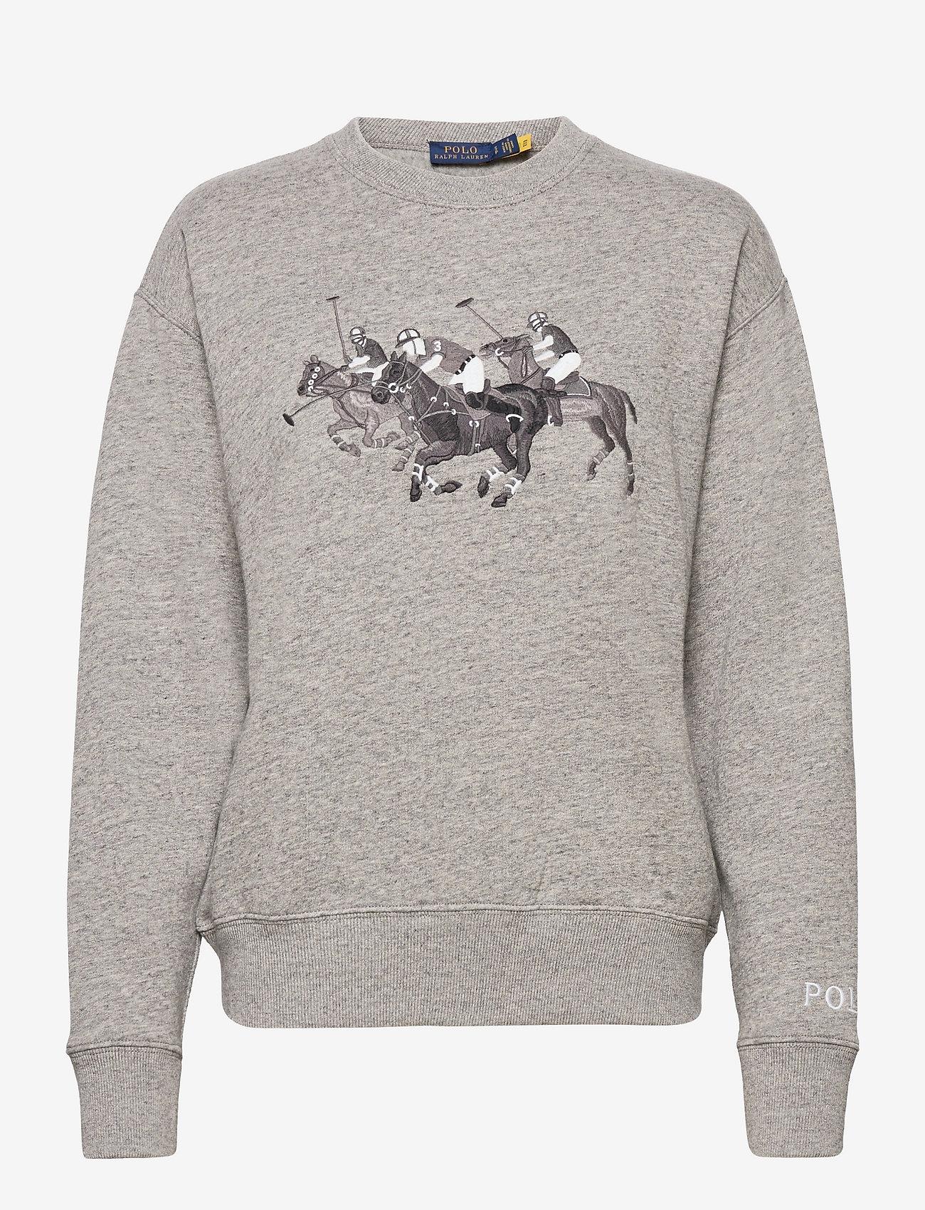 Polo Ralph Lauren - Polo Match Heathered Fleece Sweatshirt - sweatshirts - dark vintage heat - 0