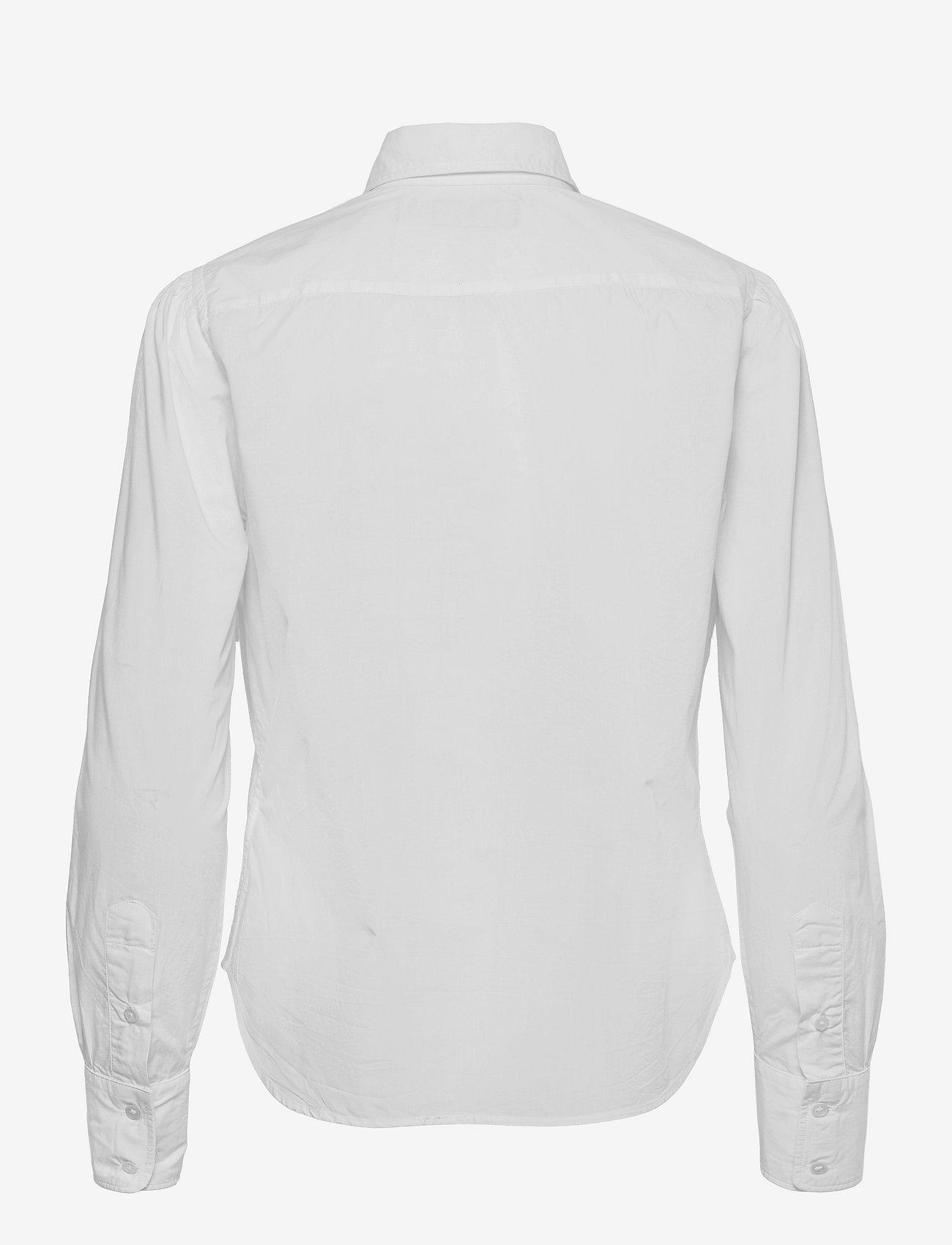 Polo Ralph Lauren - Embroidered-Monogram Cotton Poplin Shirt - long-sleeved shirts - white - 1