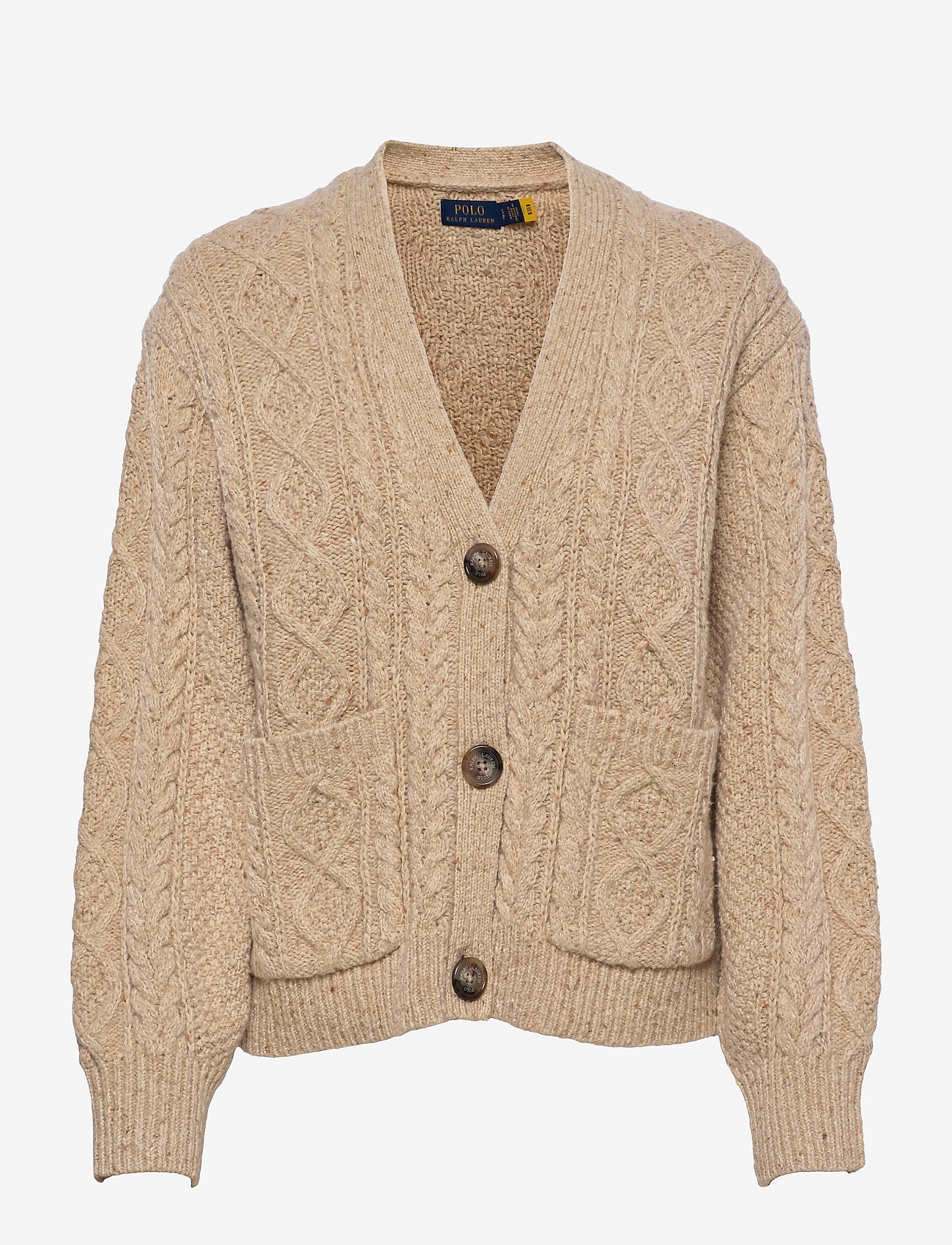 Polo Ralph Lauren - Cable-Knit Buttoned Cardigan - cardigans - light tallow done - 0