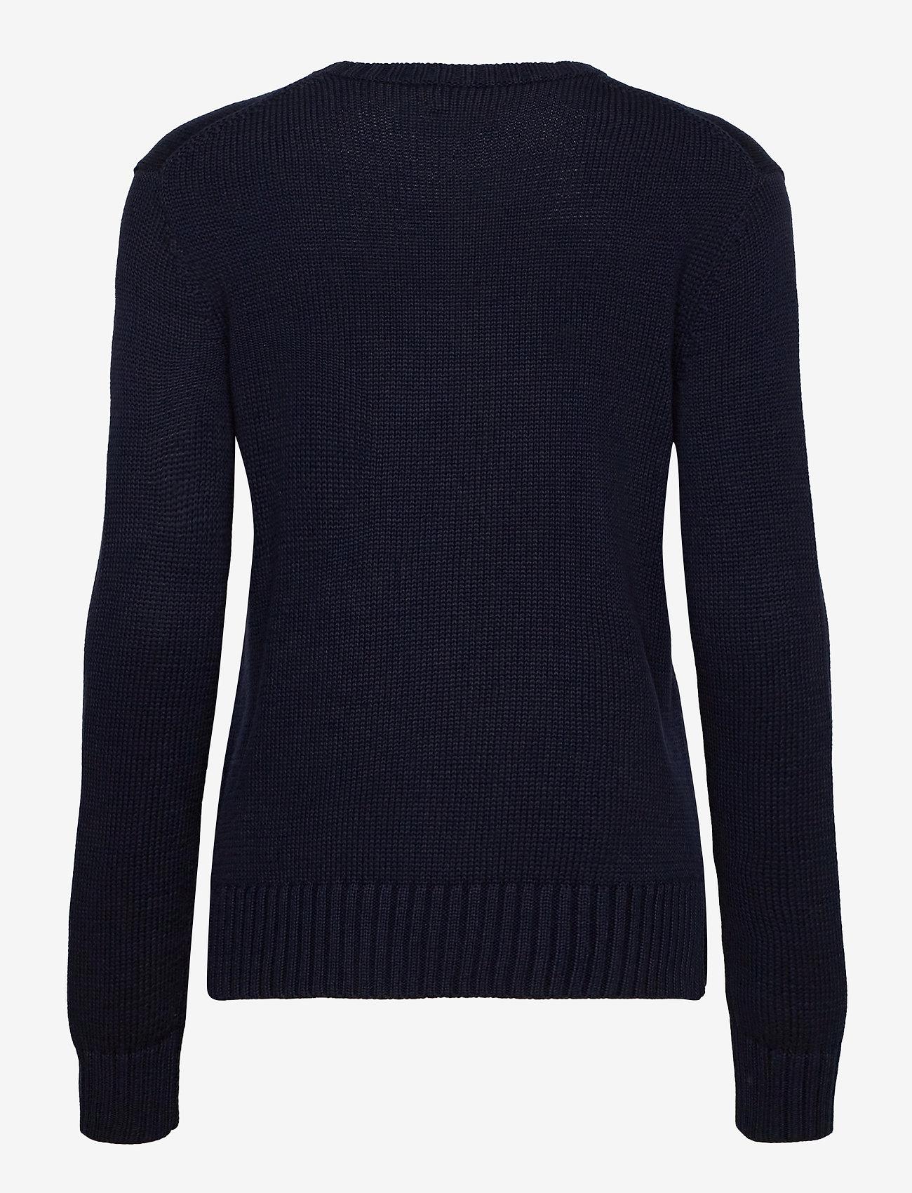 Polo Ralph Lauren - Bandanna Polo Bear Cotton Sweater - jumpers - navy multi - 1