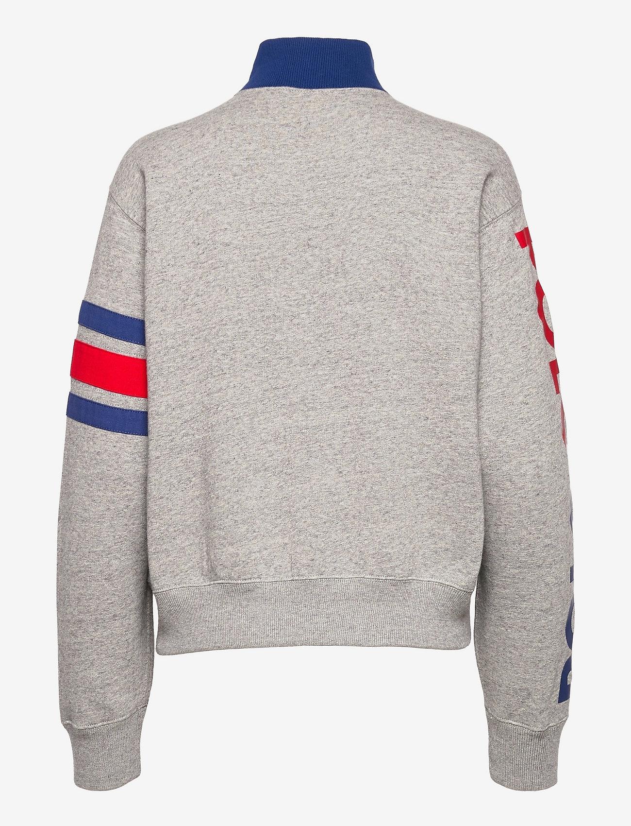 Polo Ralph Lauren - Logo Quarter-Zip Fleece Pullover - sweatshirts - dark vintage heat - 1