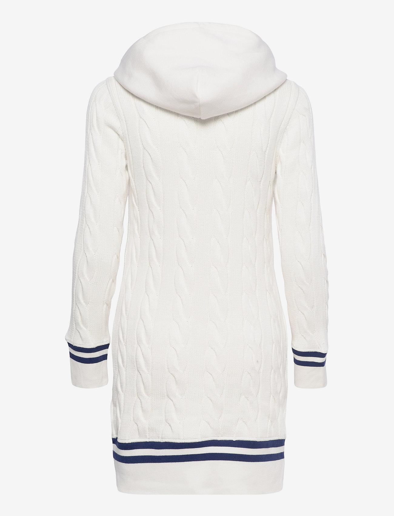 Polo Ralph Lauren - Hooded Cricket Sweater Dress - t-shirt dresses - nevis - 1