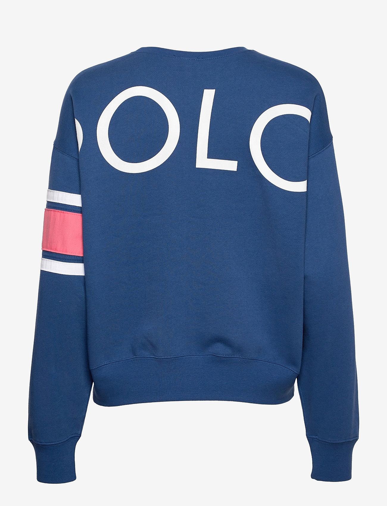 Polo Ralph Lauren - Striped-Trim Fleece Sweatshirt - sweatshirts - beach royal - 1
