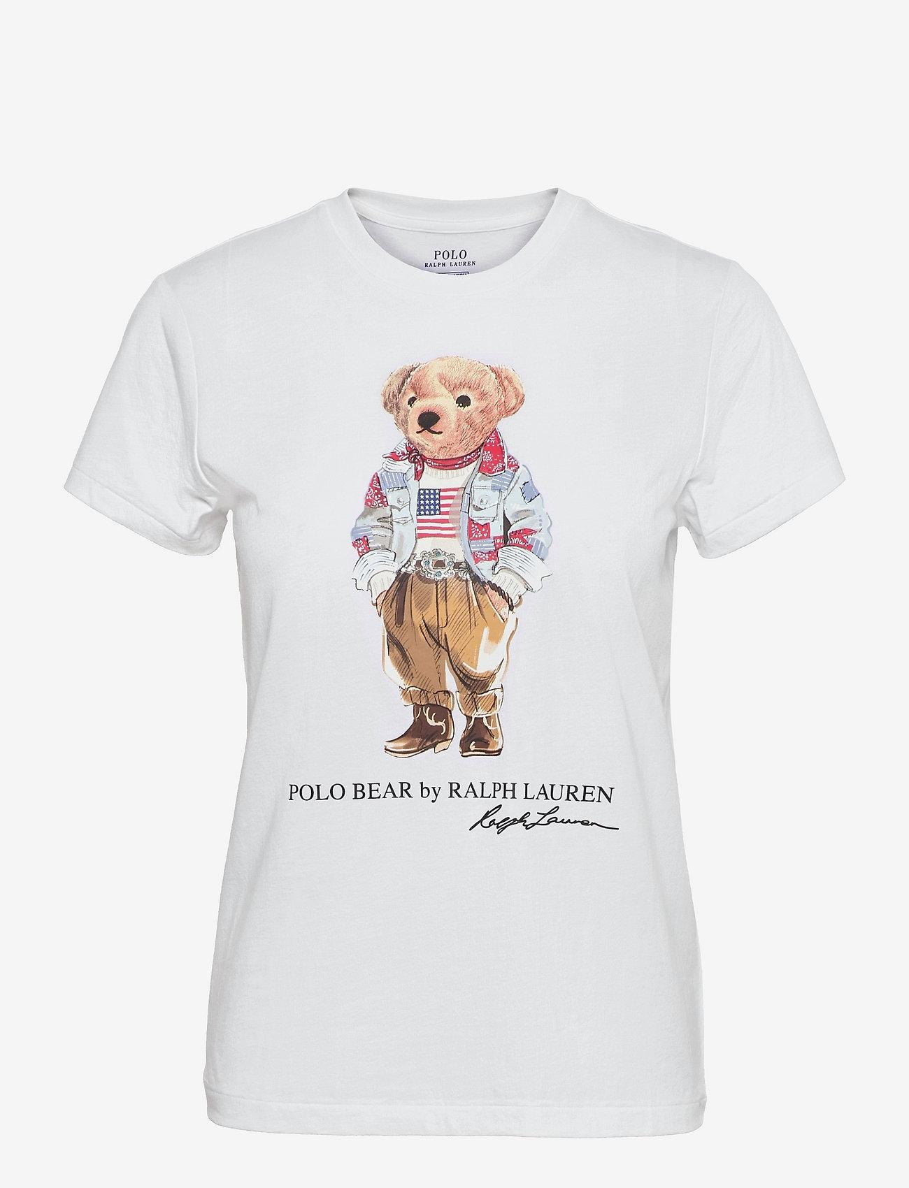 Polo Ralph Lauren - Bandanna Polo Bear Tee - t-shirts - white - 0